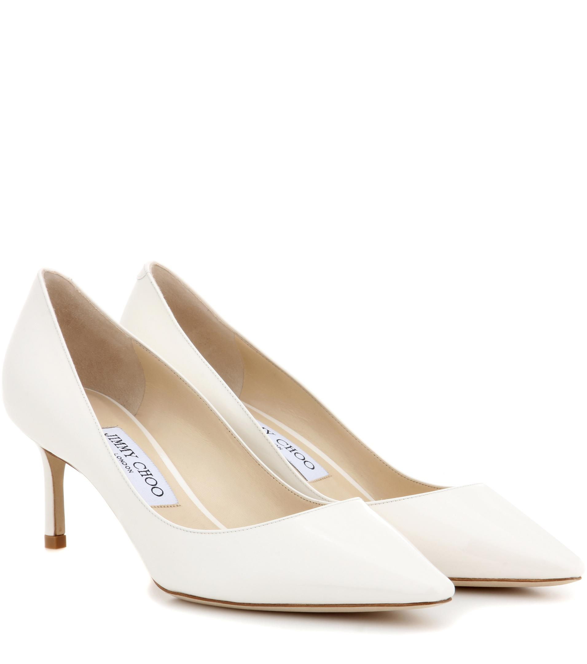 081a4b2409 Jimmy Choo Romy 60 Patent Leather Pumps in White - Lyst