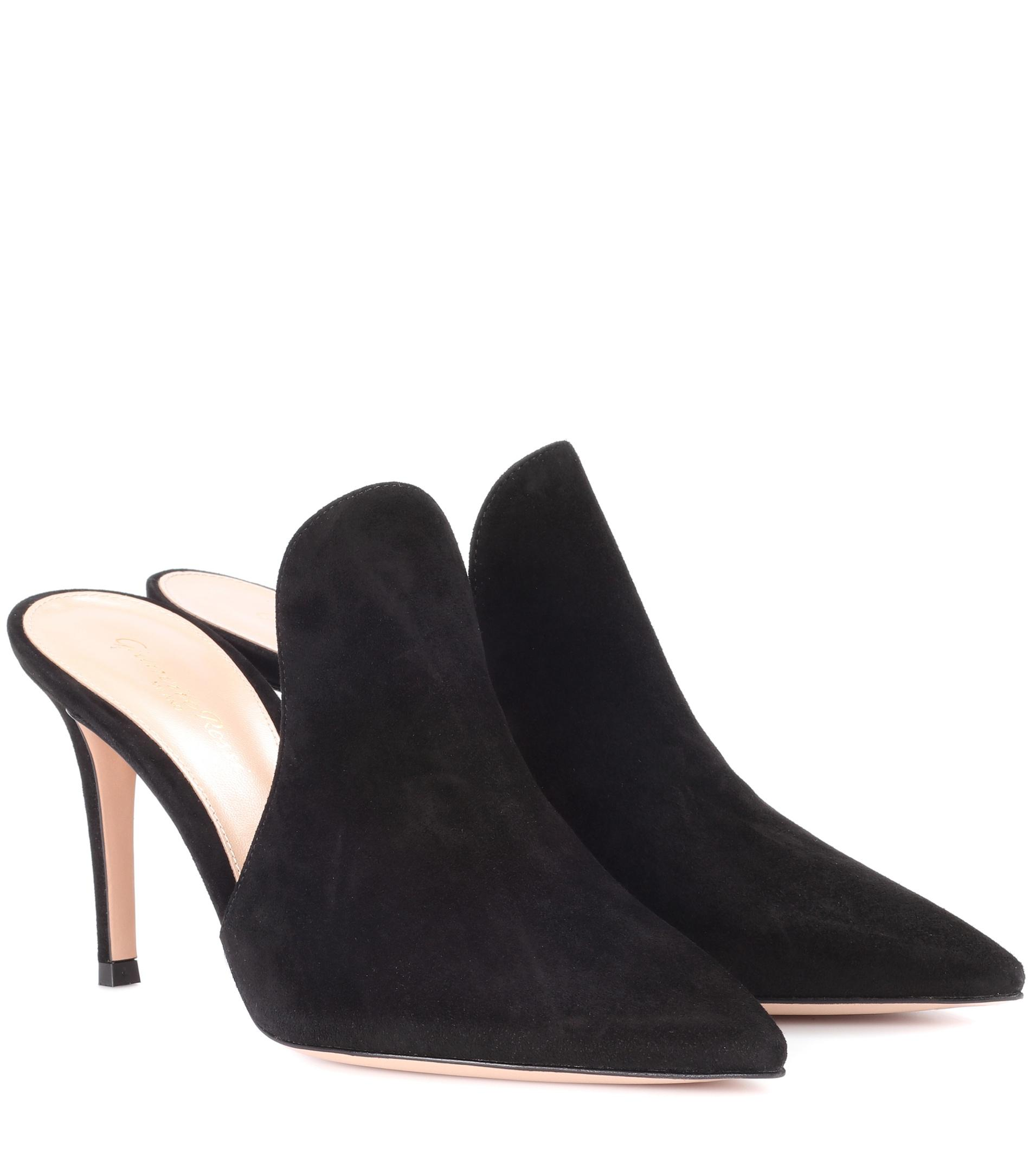 Gianvito Rossi Paige suede mules KLYM3a