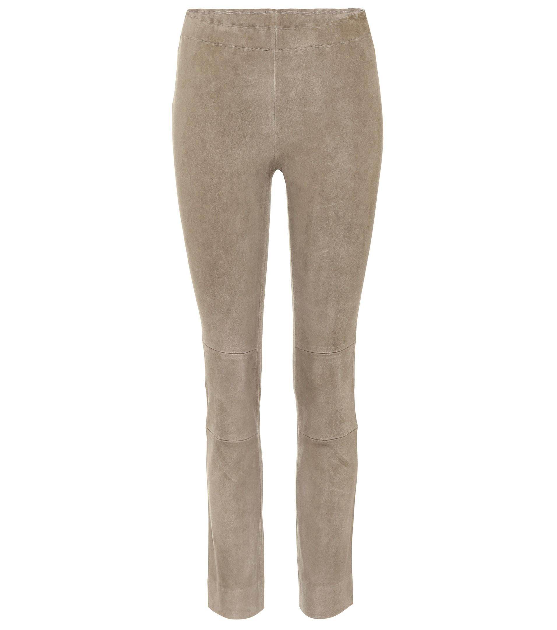 Maria Rosa cropped suede trousers Stouls KkiWlx9WHU