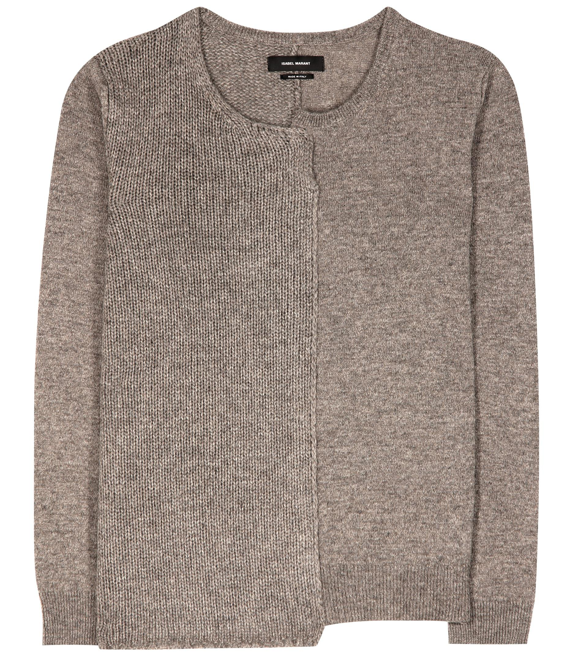 Isabel marant Calgary Wool, Yak And Cotton Sweater in Brown | Lyst