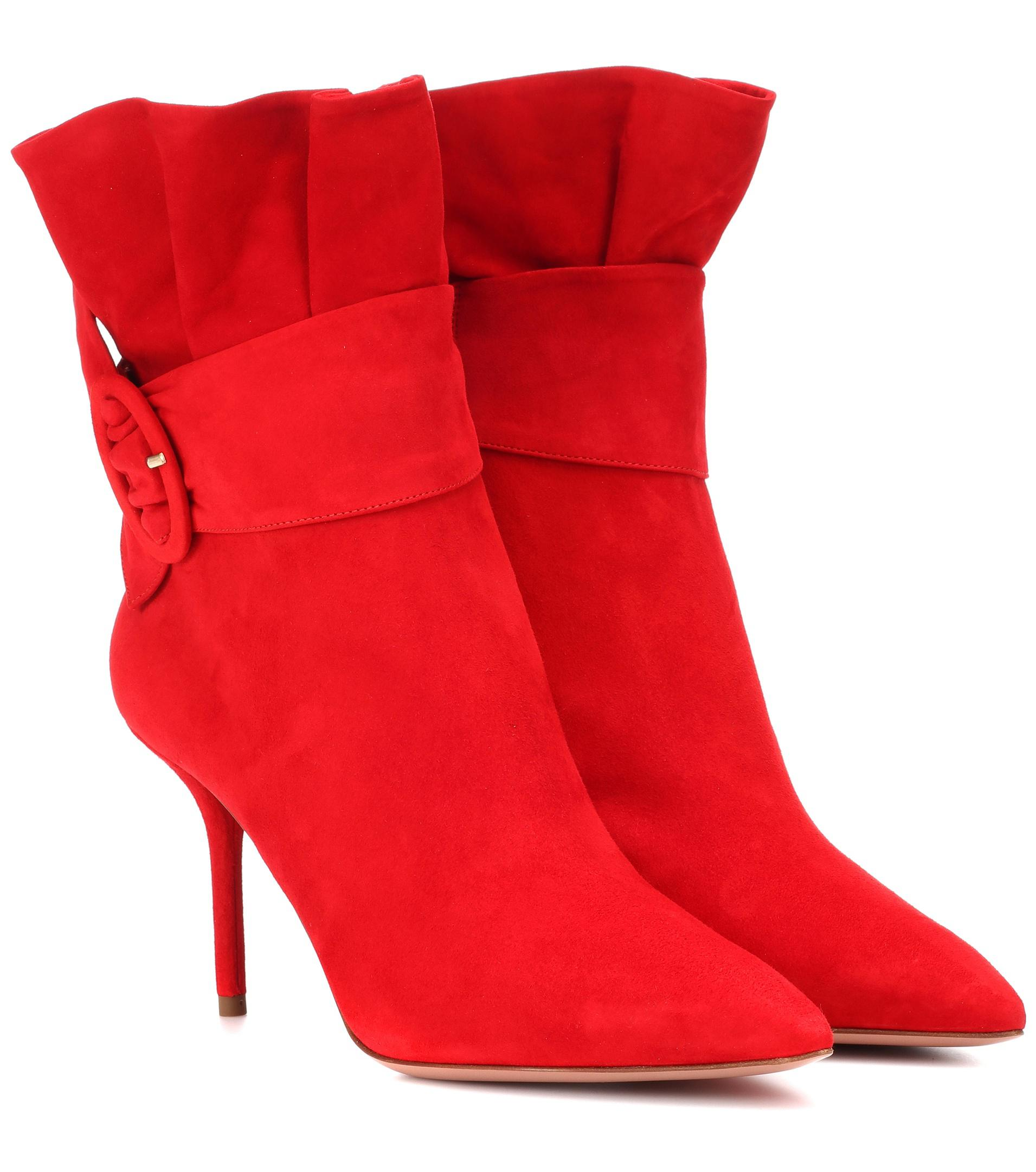 Aquazzura Palace 85 suede ankle boots clearance original visa payment cheap price cheap sast cost for sale LXqxIk5gh