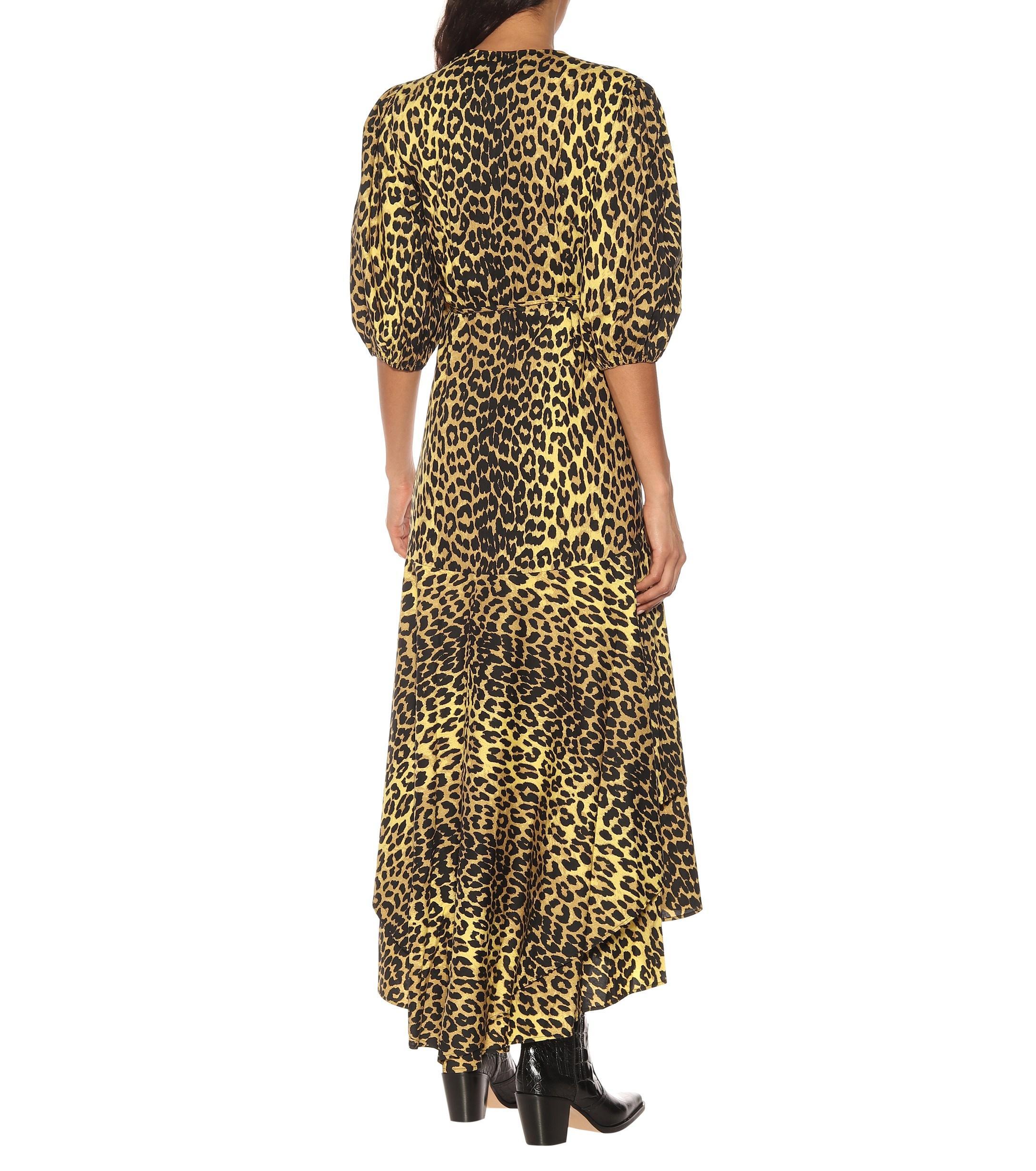 b6f6833d Ganni - Multicolor Printed Cotton Wrap Dress - Lyst. View fullscreen