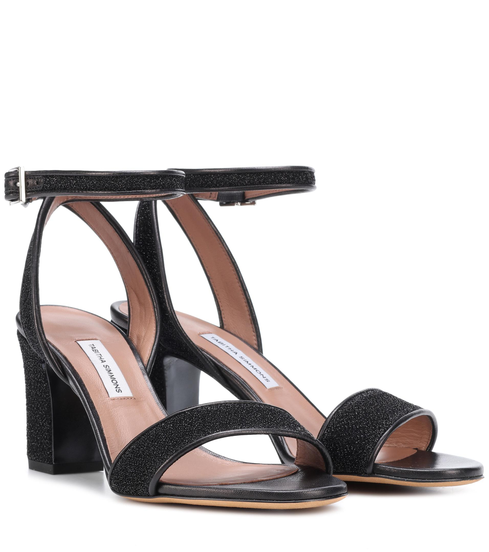 d8a577685c8 Tabitha Simmons - Black Leticia Metallic Sandals - Lyst. View fullscreen