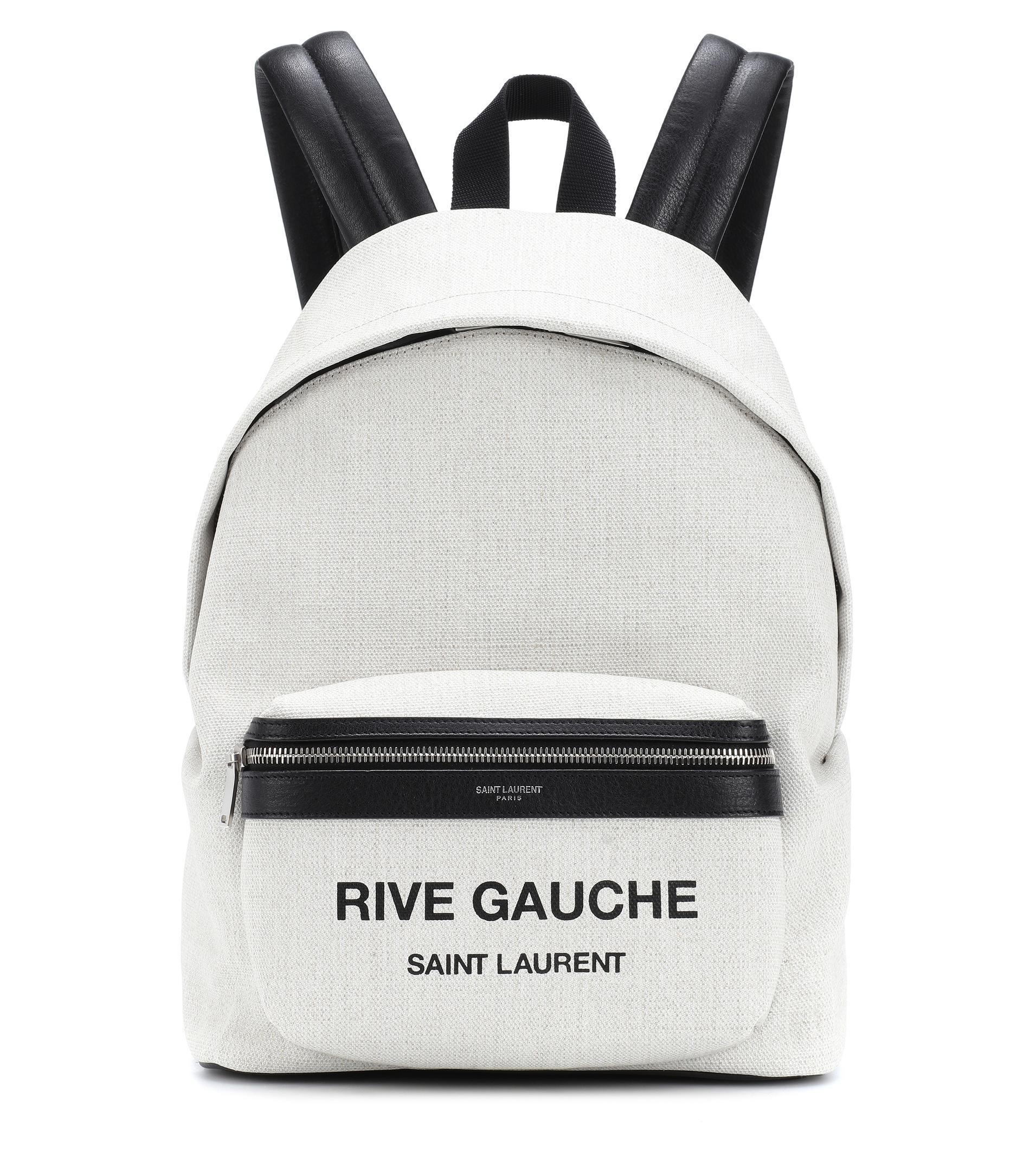 e00de3d423 Saint Laurent - White City Mini Rive Gauche Backpack - Lyst. View fullscreen