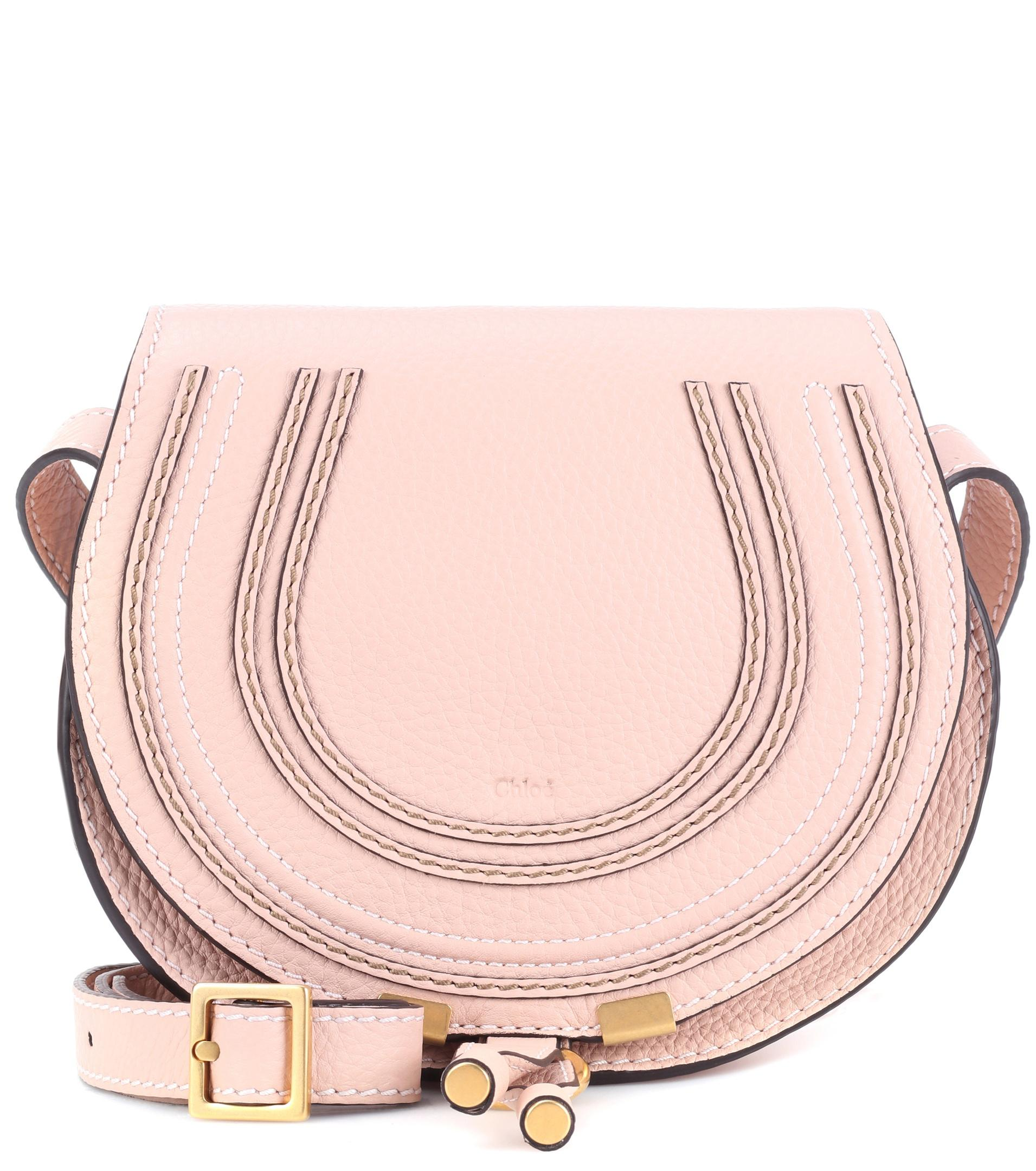 Lyst - Chloé Marcie Small Leather Shoulder Bag in Natural 5f8a1cb858