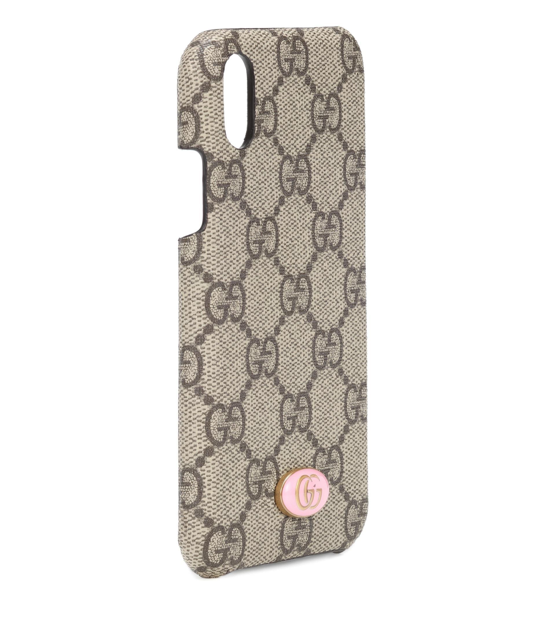 3de2c84cdafe Gucci Gg Iphone X Case in Natural - Lyst