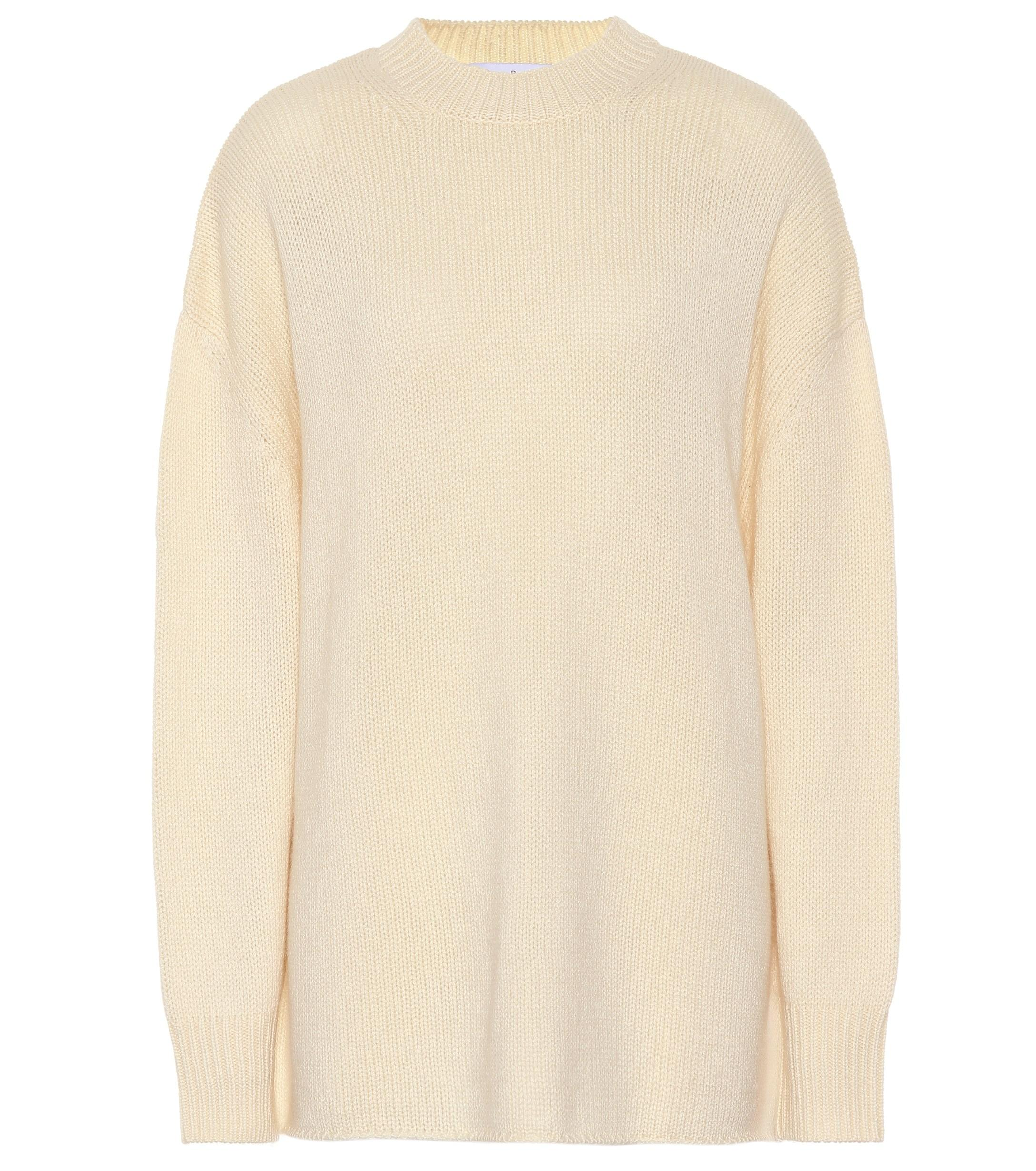 Lyst - Ryan Roche Cashmere Sweater in White f44a961d3