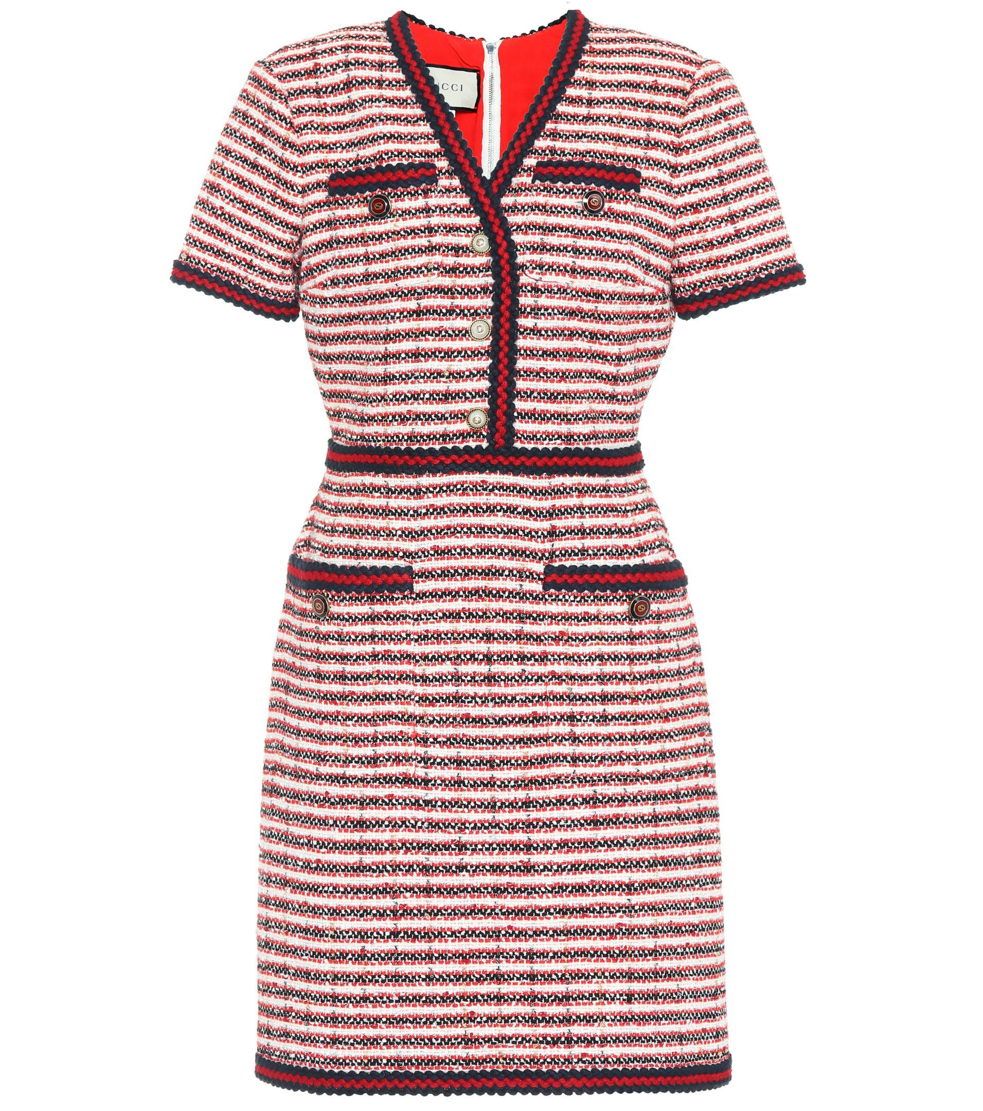 Lyst - Robe en tweed Gucci 850a4c2154d