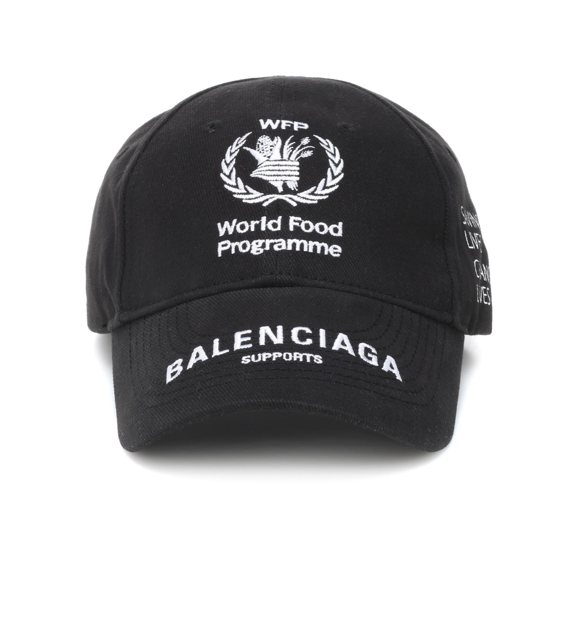 f4425852 Balenciaga World Food Programme Cap in Black - Lyst