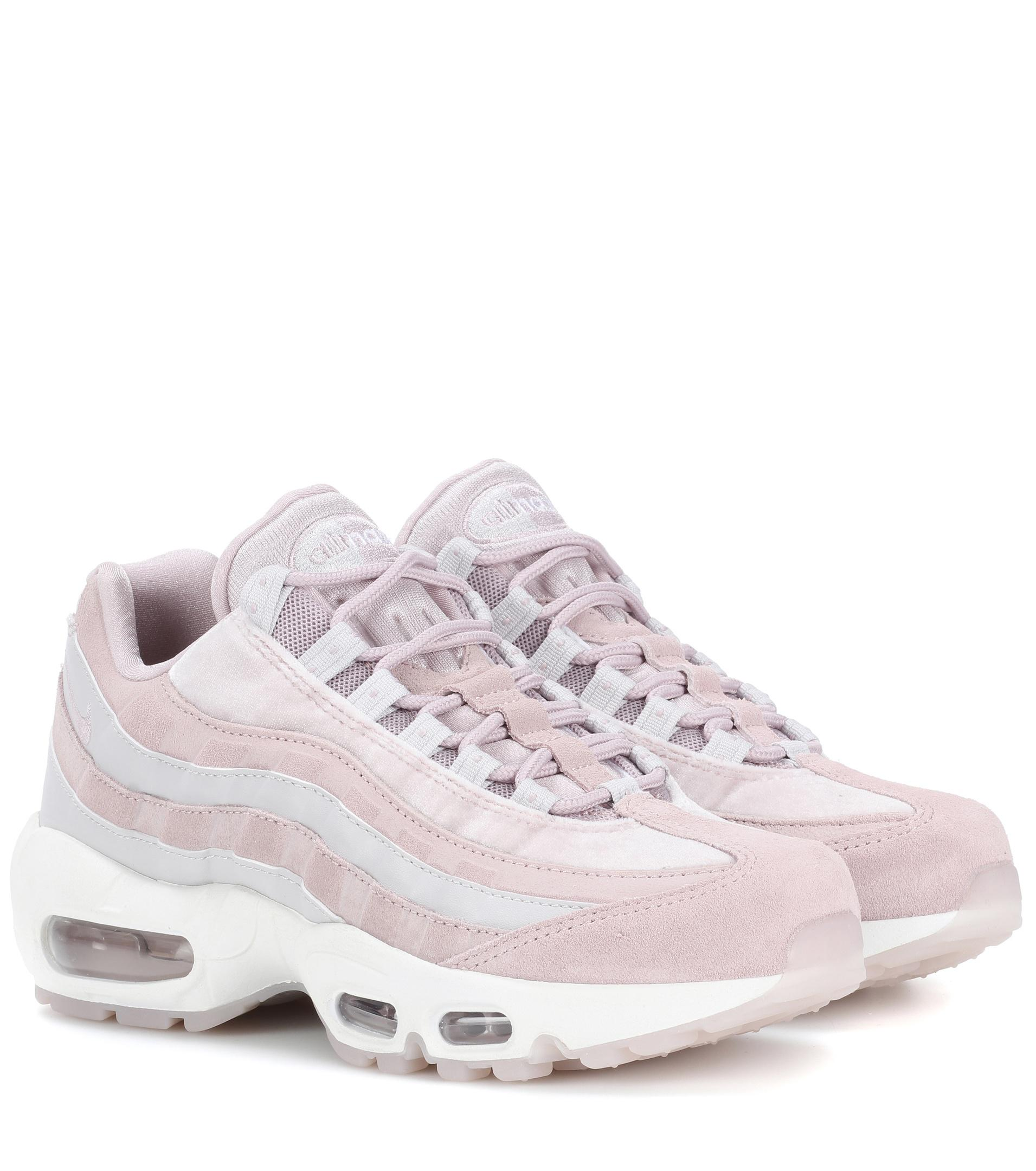 Nike. Women's Pink Air Max 95 Leather Sneakers