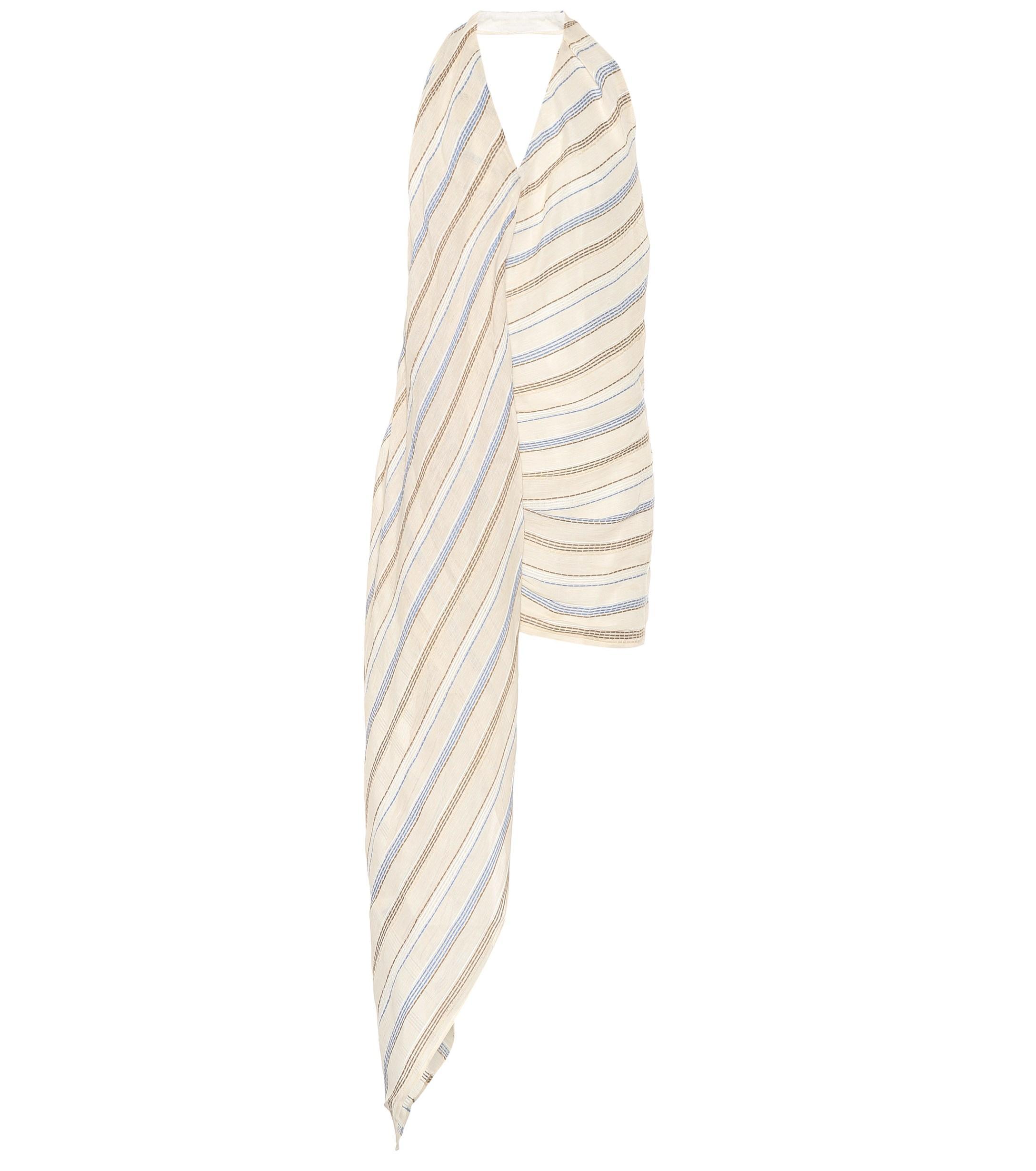 e15ecfc268b Jacquemus. Women s Natural Spezia Cotton And Linen Blend Halterneck Dress