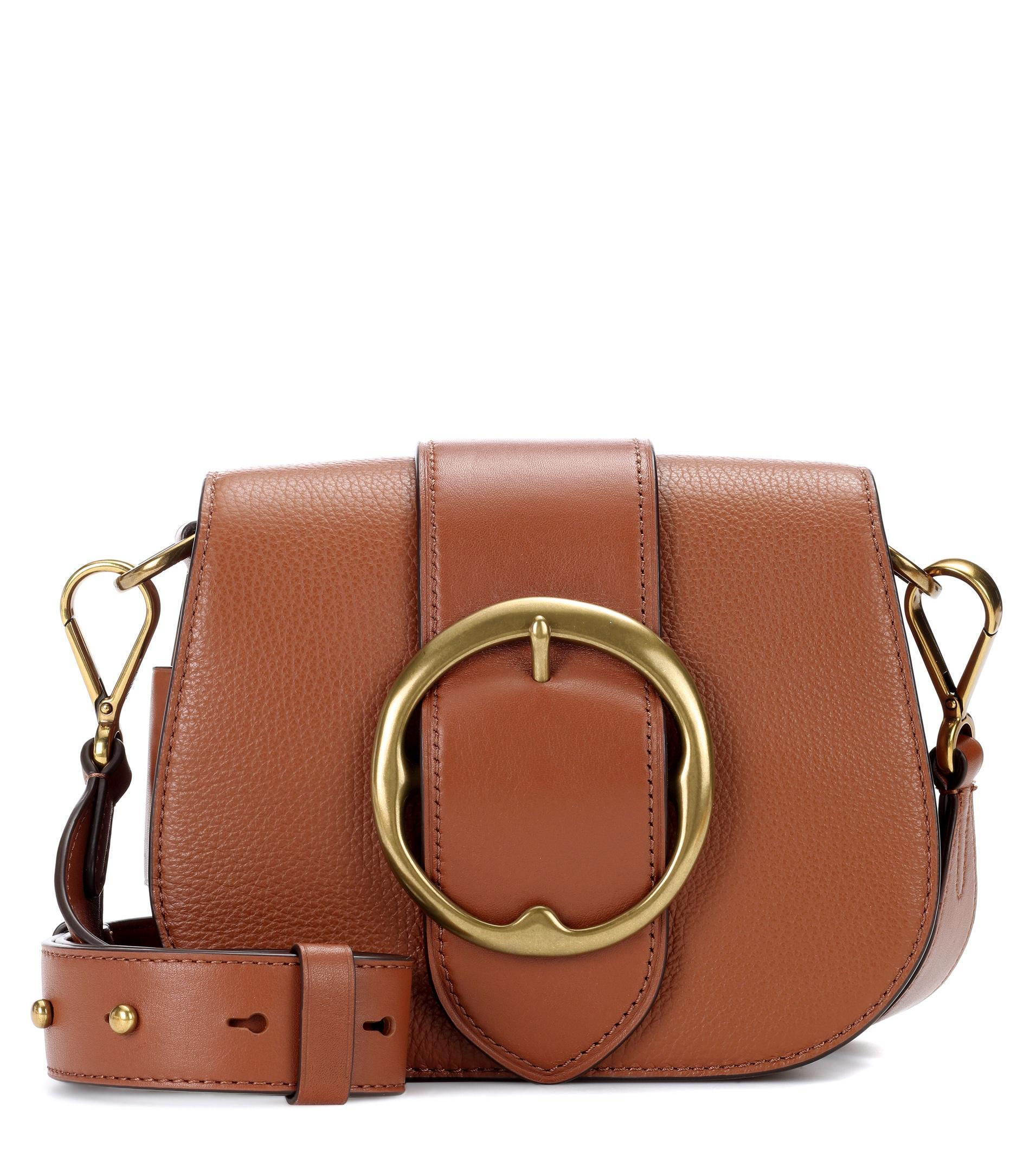Polo Ralph Lauren Lennox Leather Shoulder Bag in Brown - Lyst 72d7ebd7f45b1