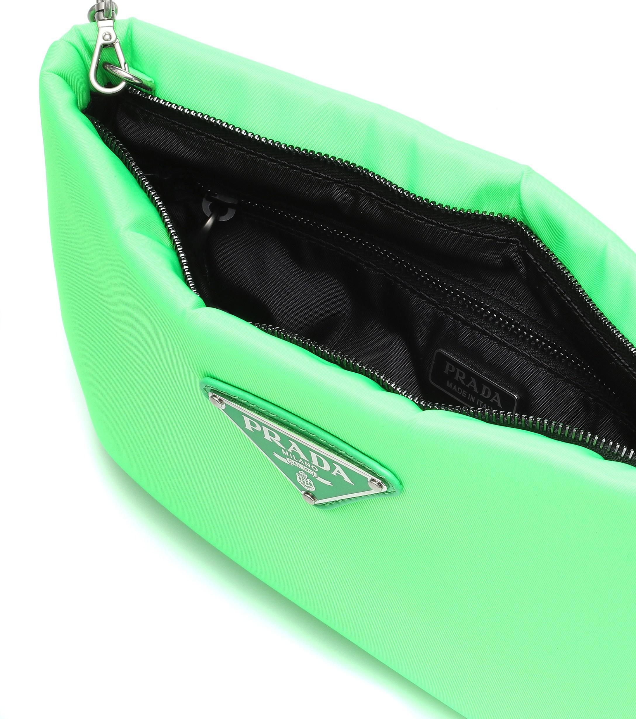 923a08470537 Prada Fluo Clutch in Green - Lyst