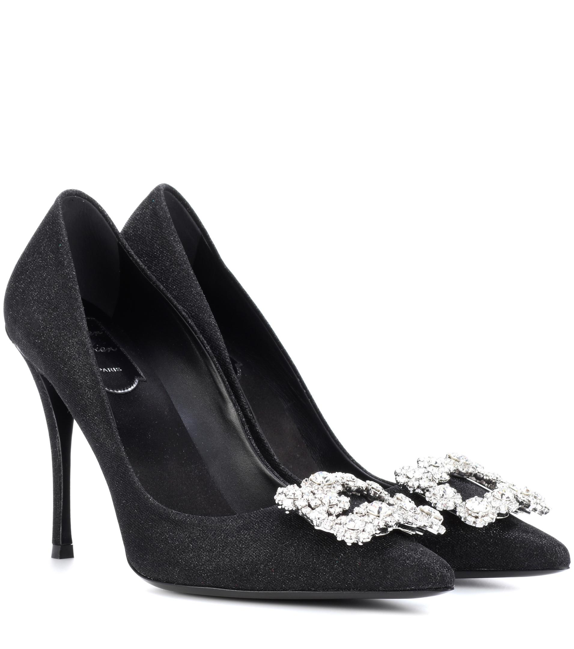 clearance big discount Roger Vivier Strass-Embellished Satin Pumps cheap sale collections shop for online oe9woWRTRJ