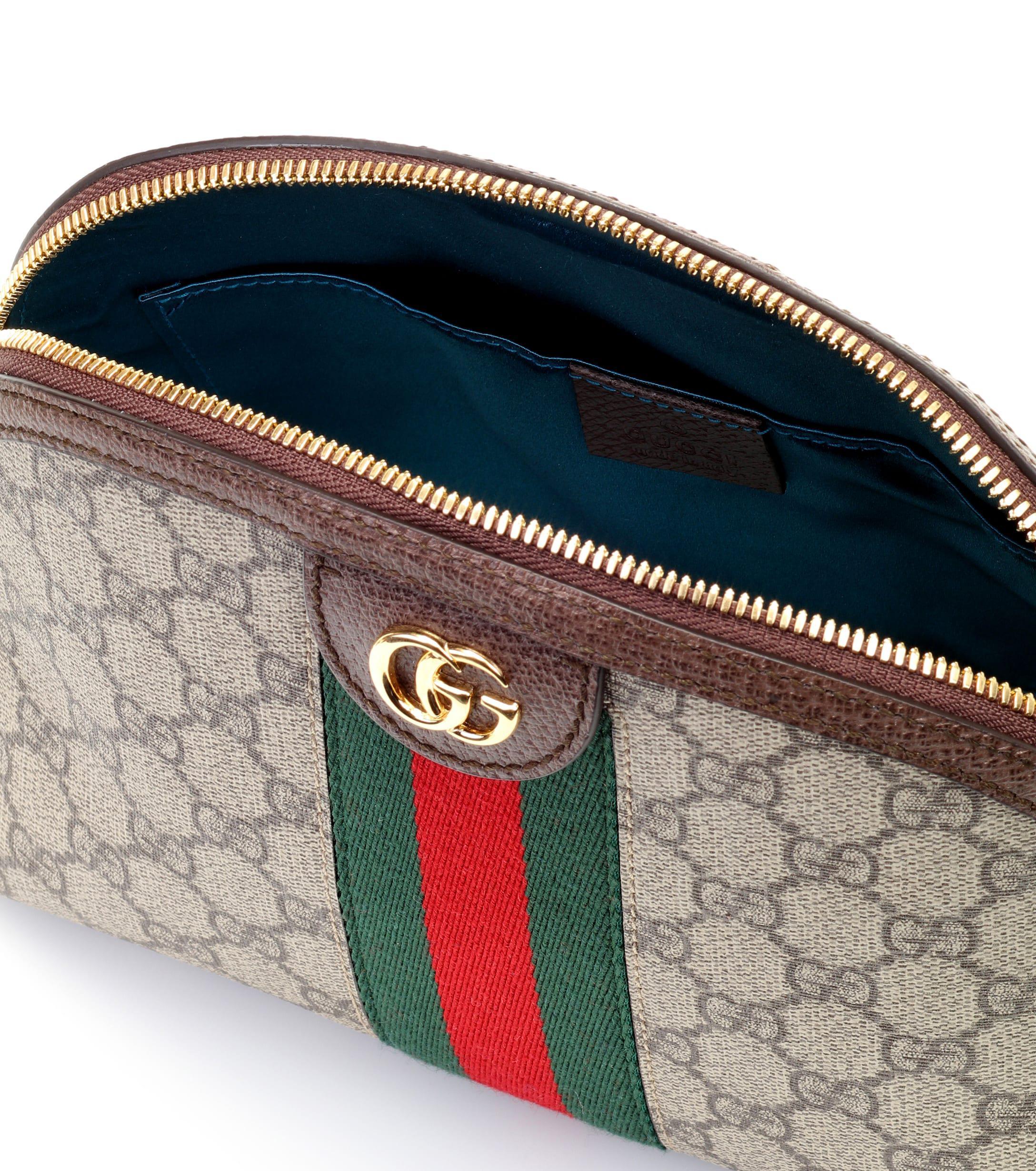 ce5c5df10f8e1 Lyst - Bolso al hombro Ophidia GG Small Gucci de color Marrón