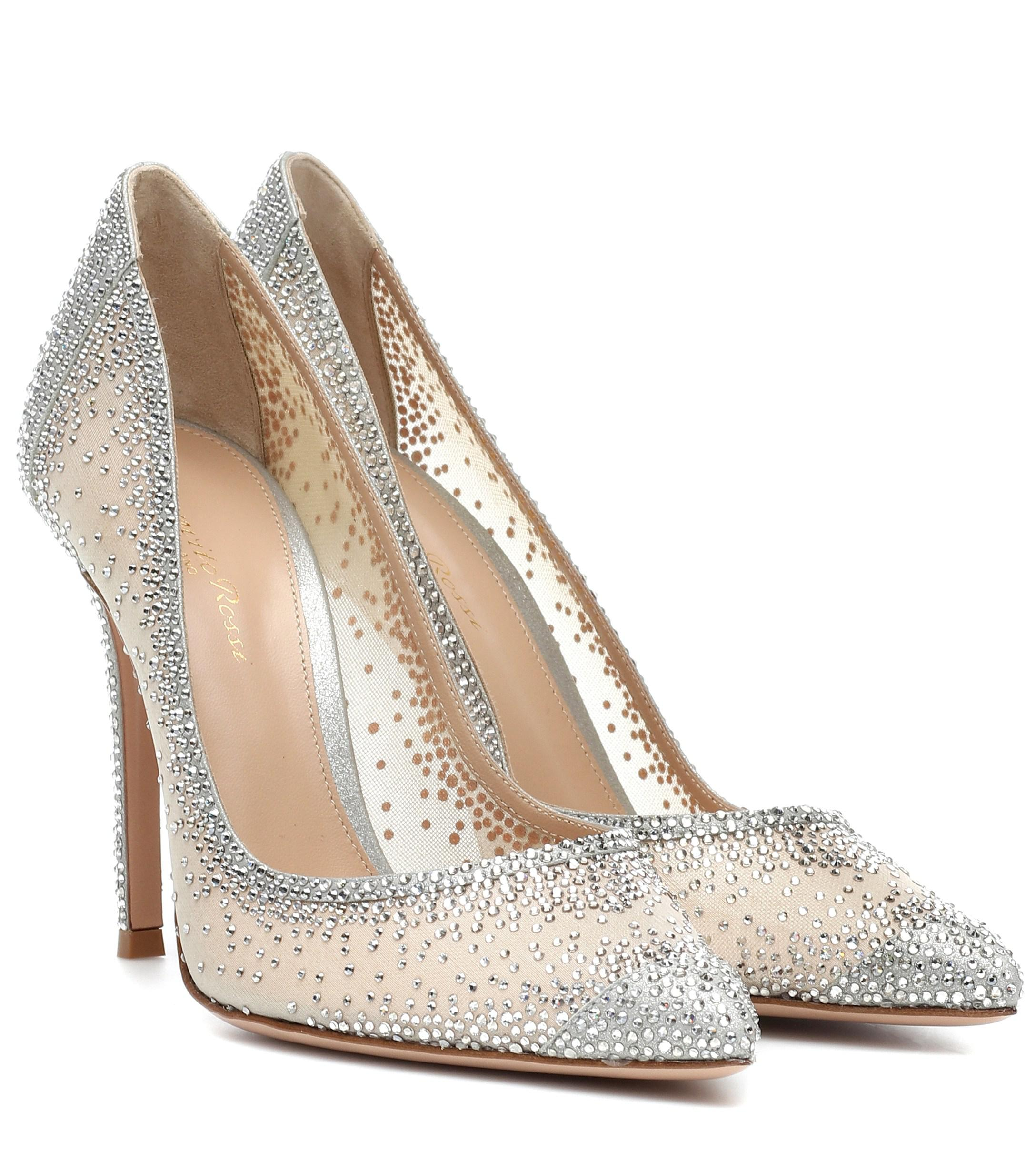 dcd44b72cc42 Gianvito Rossi. Women s Rania 105 Crystal-embellished Pumps
