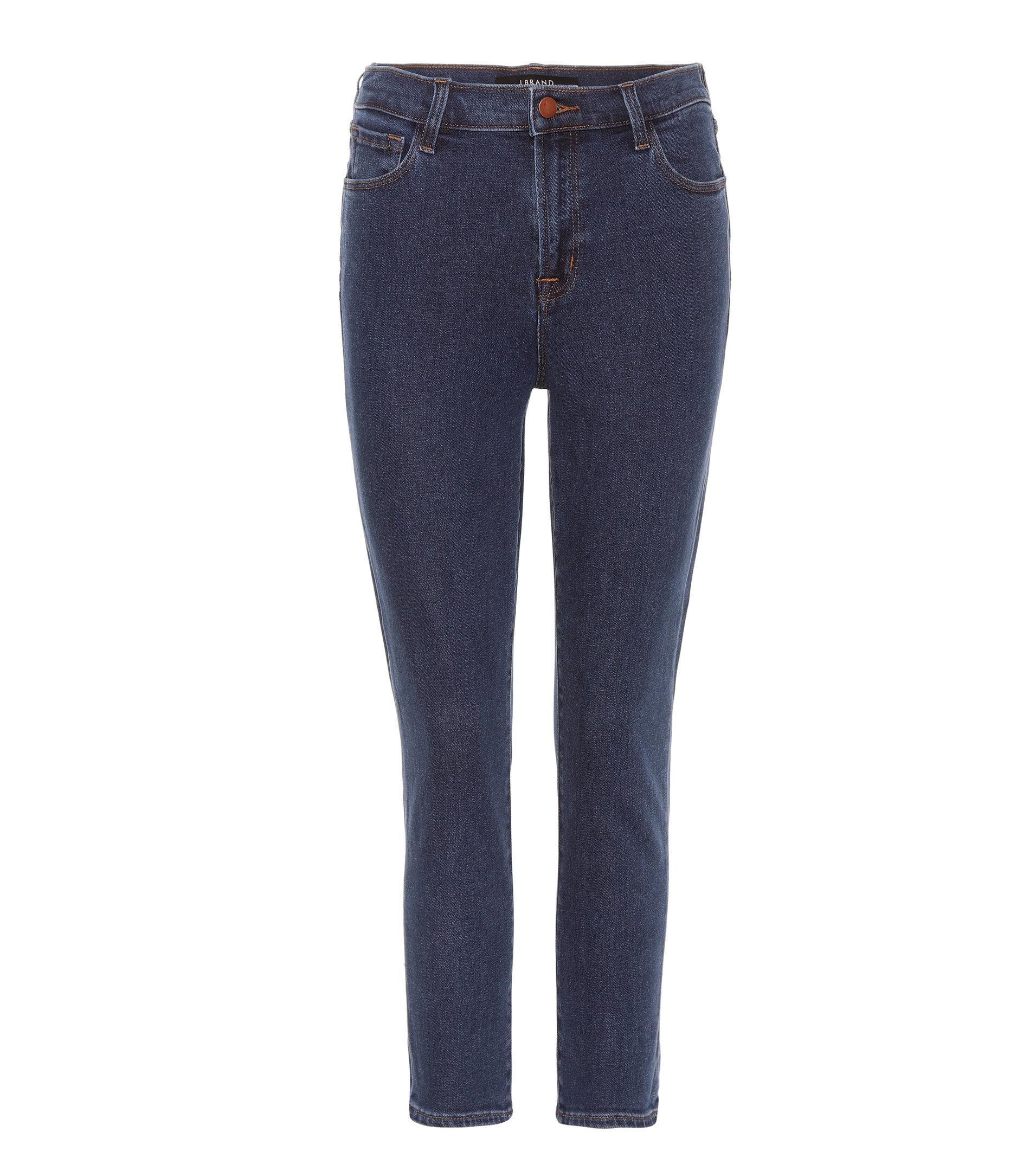 20465e9884ce J Brand Ruby High-rise Crop Jeans in Blue - Lyst