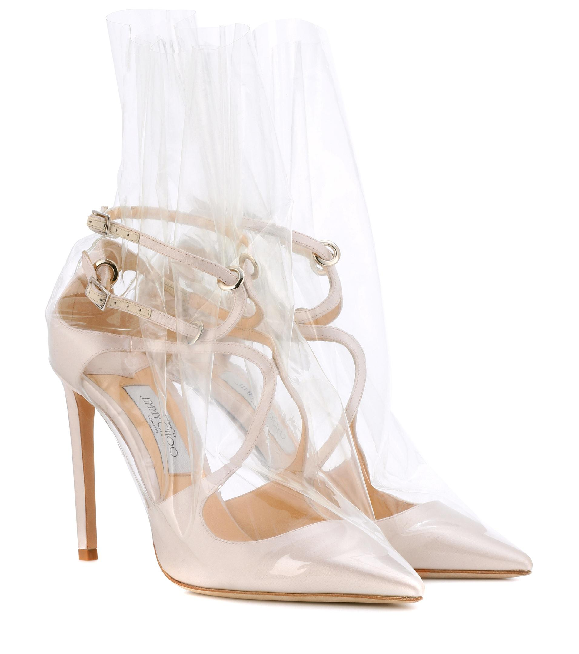 Jimmy choo X Off- Claire 100 satin pumps