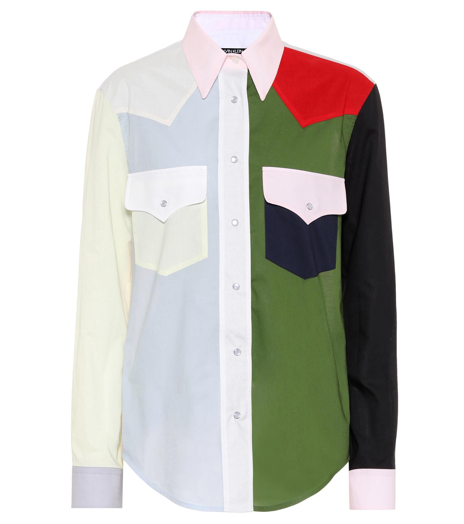 colour-block western shirt - Multicolour CALVIN KLEIN 205W39NYC Discount For Nice DFAIy0DomV
