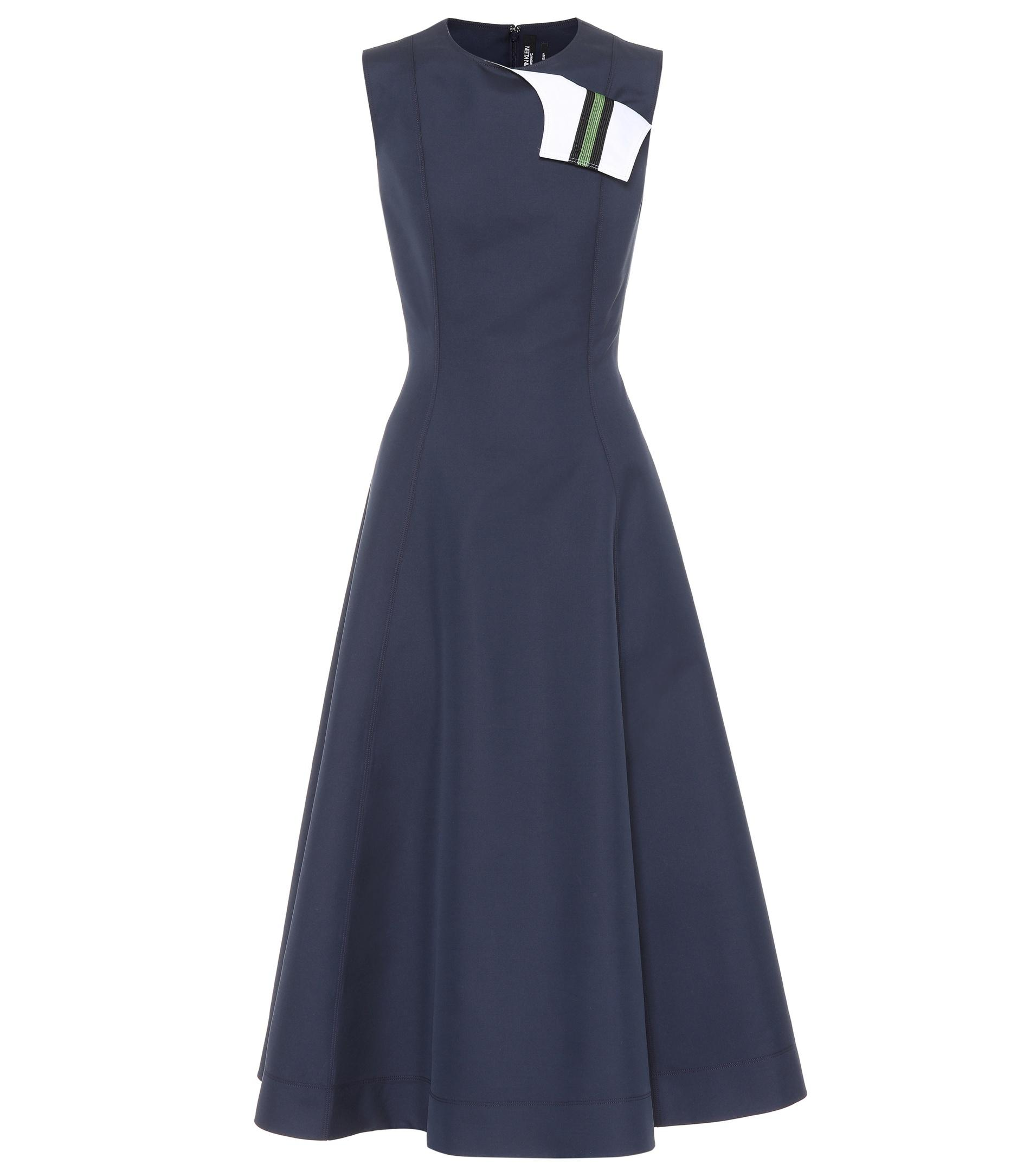 Cotton and silk A-line dress CALVIN KLEIN 205W39NYC NTojp4