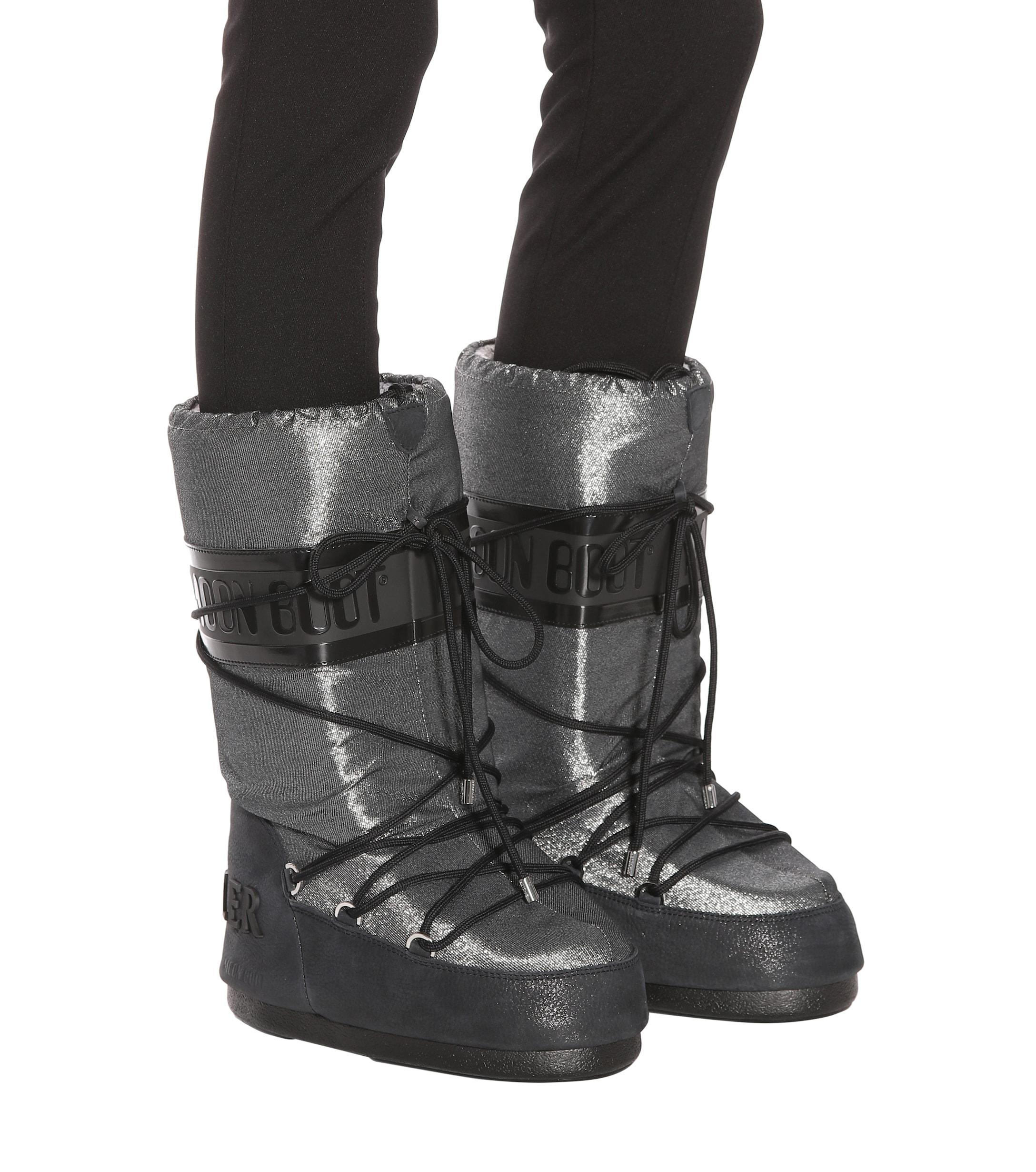 f2ff3bacfecb Lyst - Bottes après-ski x Moon Boot® Moncler en coloris Métallisé