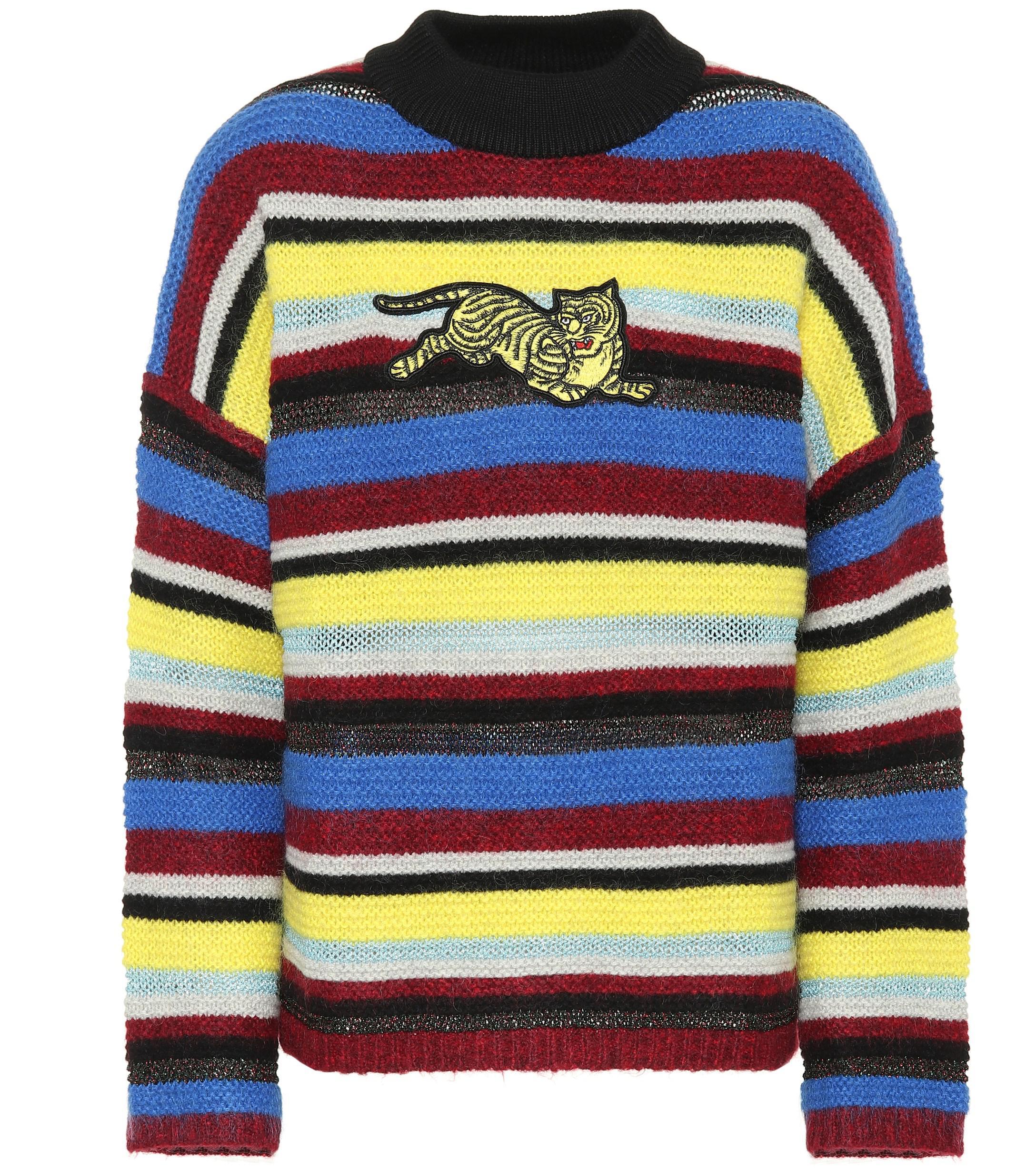 f229a9397 KENZO. Women's Striped Wool-blend Sweater