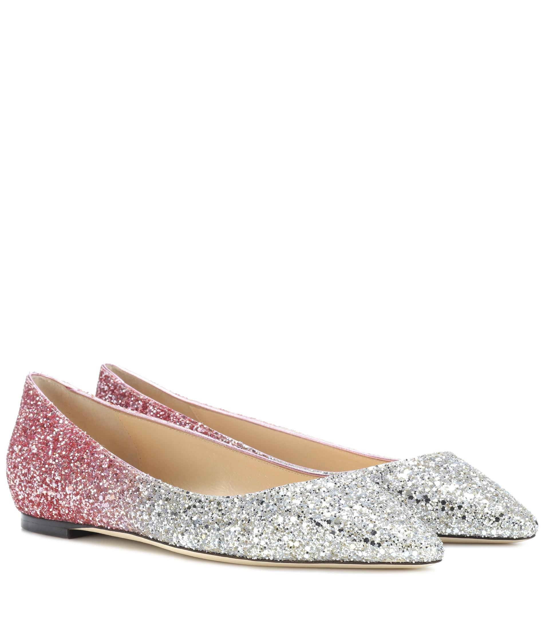 Jimmy choo Romy Flat glitter ballerinas hcNUNtdOah