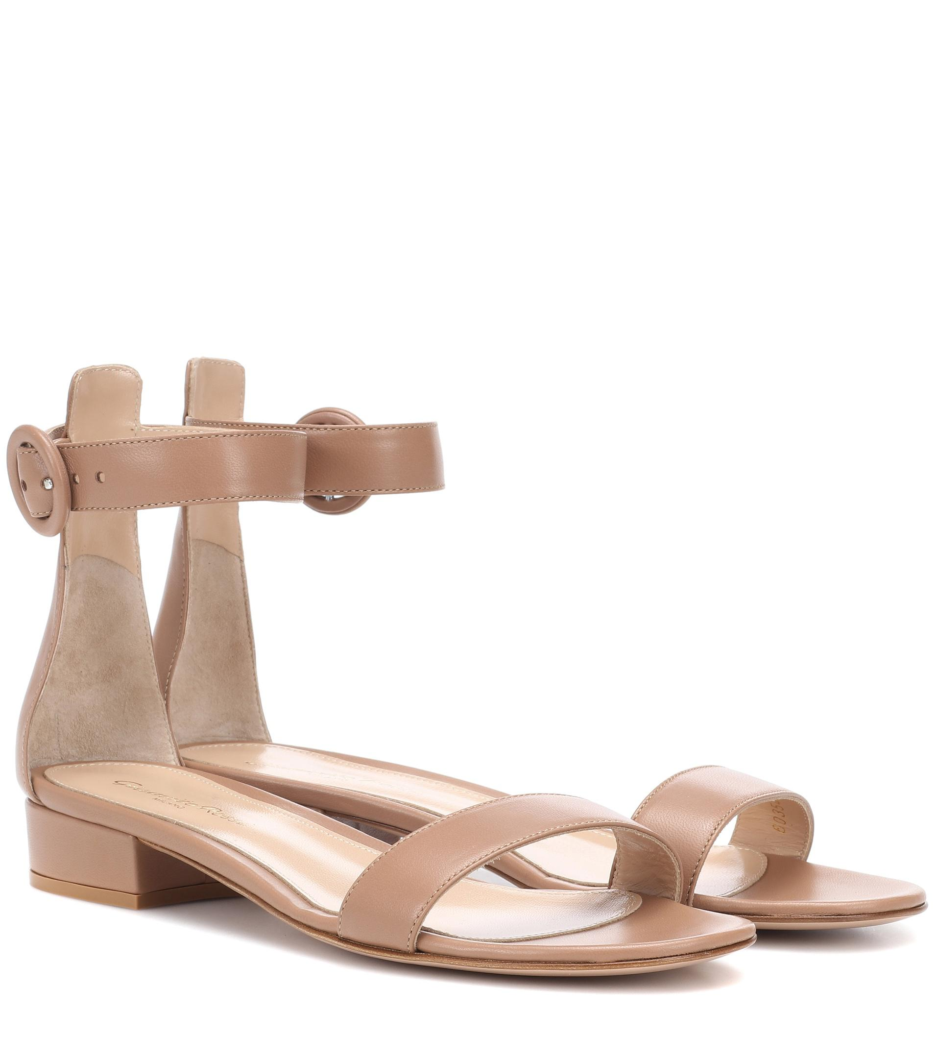 0f3d677b3de Gianvito Rossi Portofino 20 Leather Sandals - Lyst