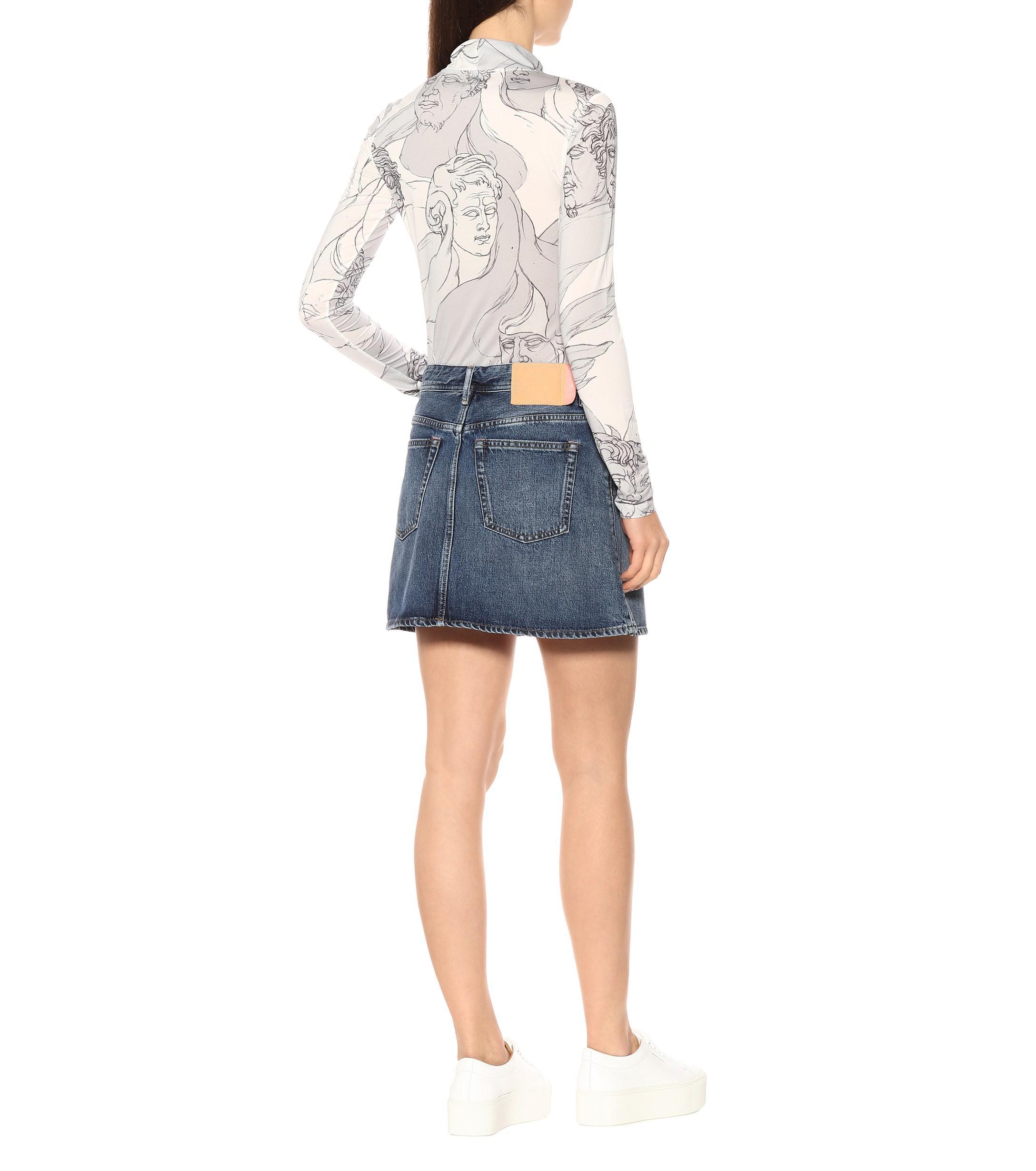 bd6e77ec18 Lyst - Acne Studios Blå Konst Caitlyn Denim Miniskirt in Blue