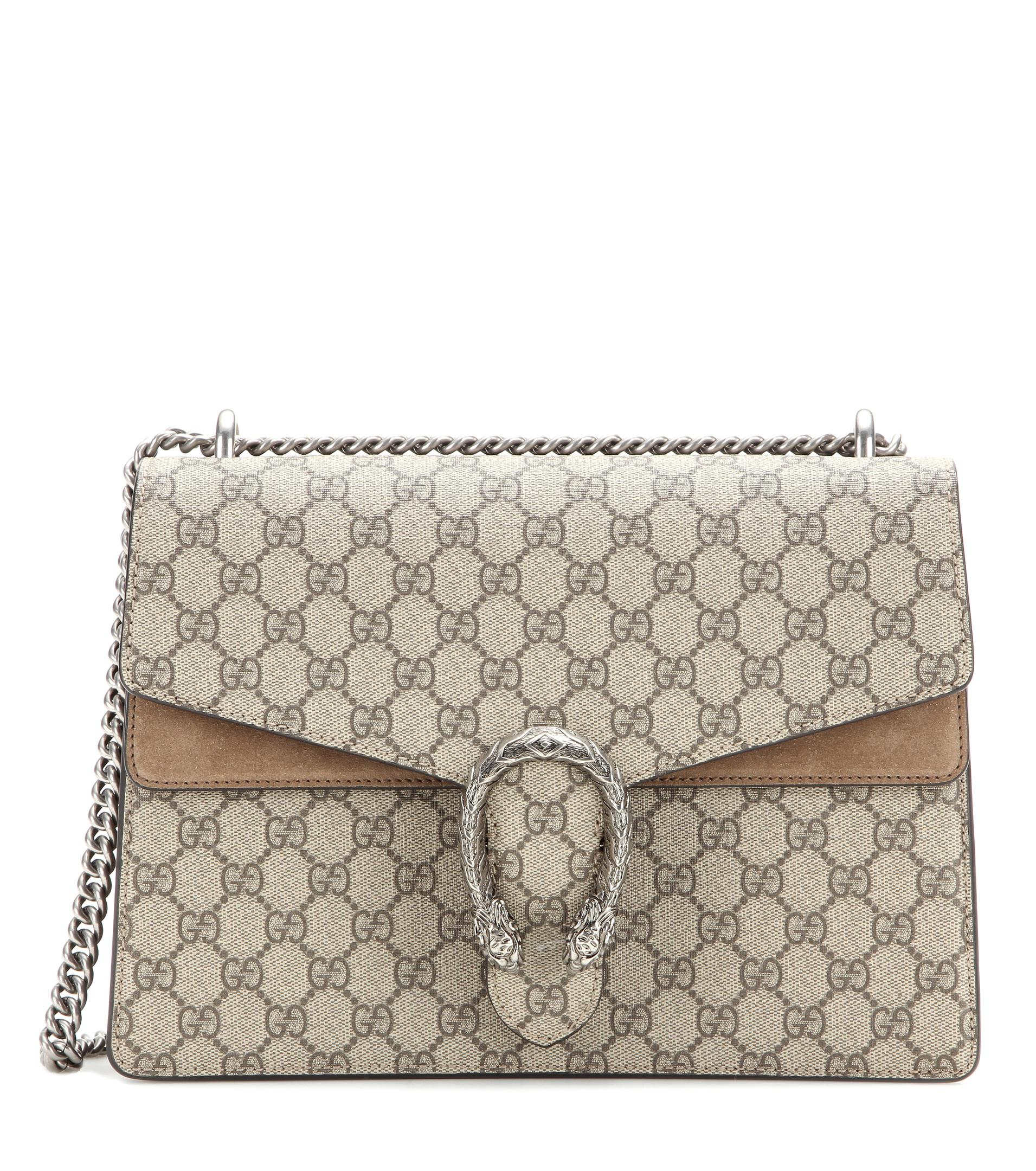 dd3278e68 Gucci Dionysus Gg Supreme Medium Coated Canvas And Suede Shoulder ...