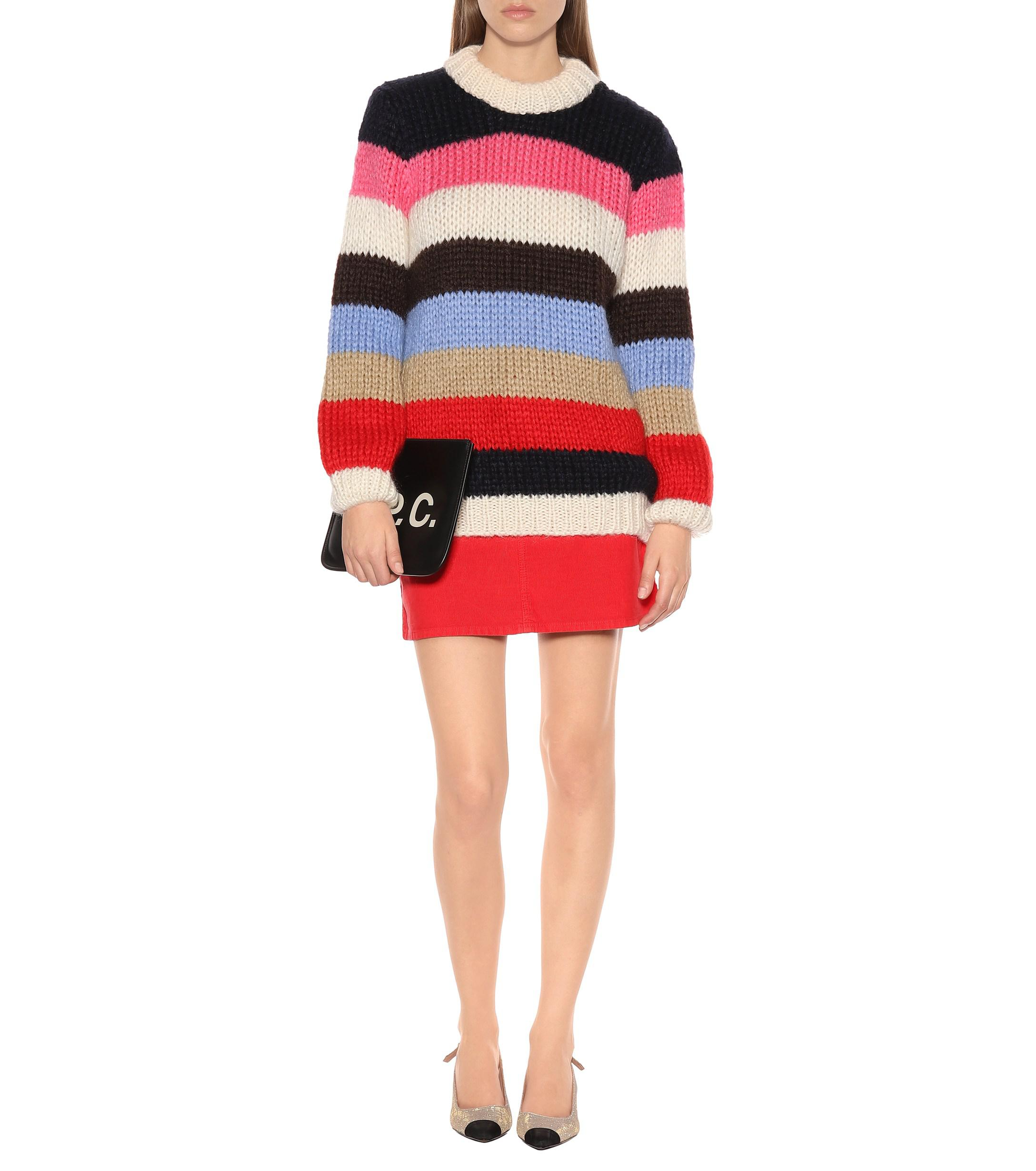 Ganni - Multicolor The Julliard Mohair-blend Sweater - Lyst. View fullscreen fd3fd08b8