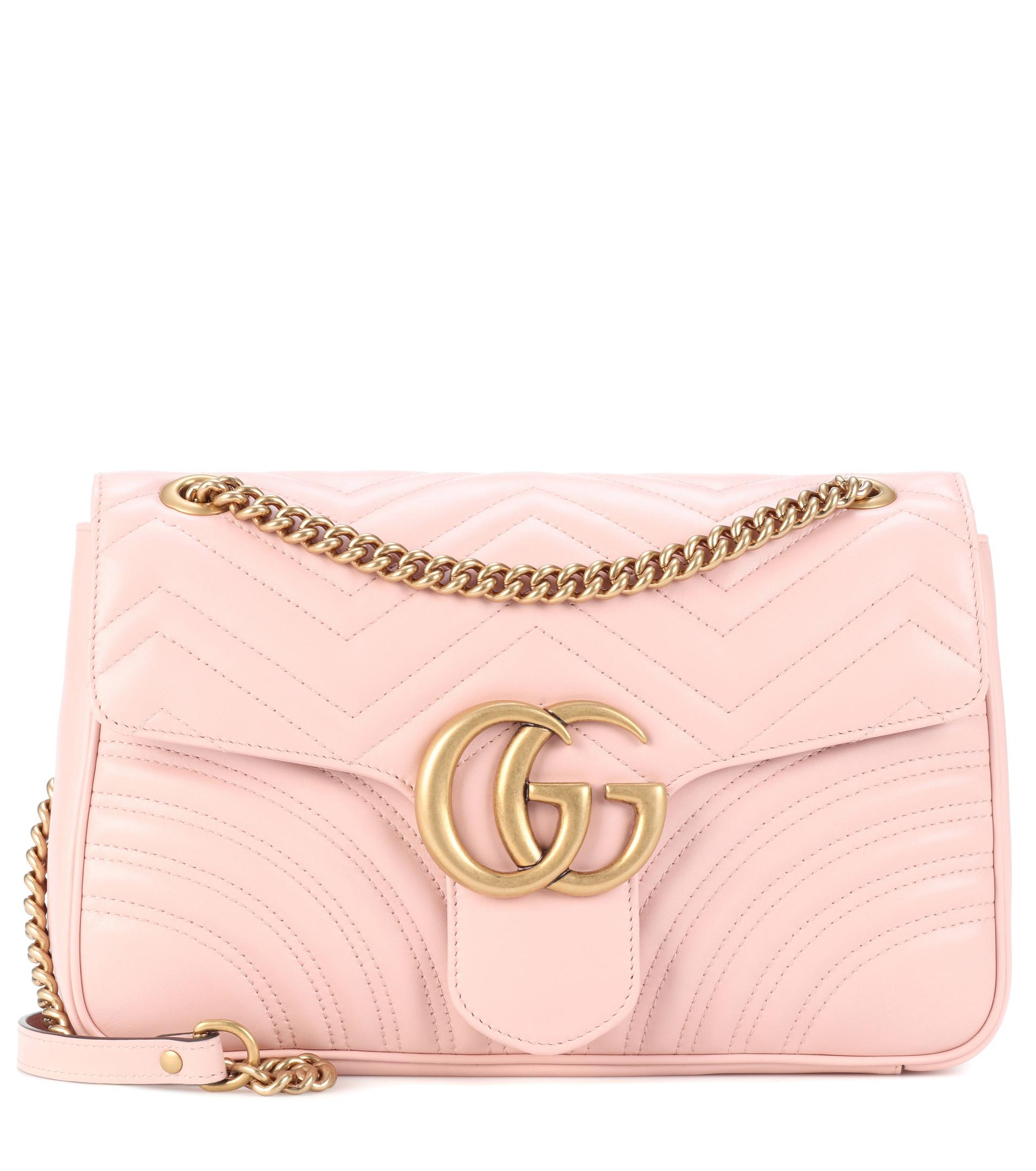 0bfbe6a600ff Gucci Gg Marmont Medium Matelassé Leather Shoulder Bag in Pink - Lyst