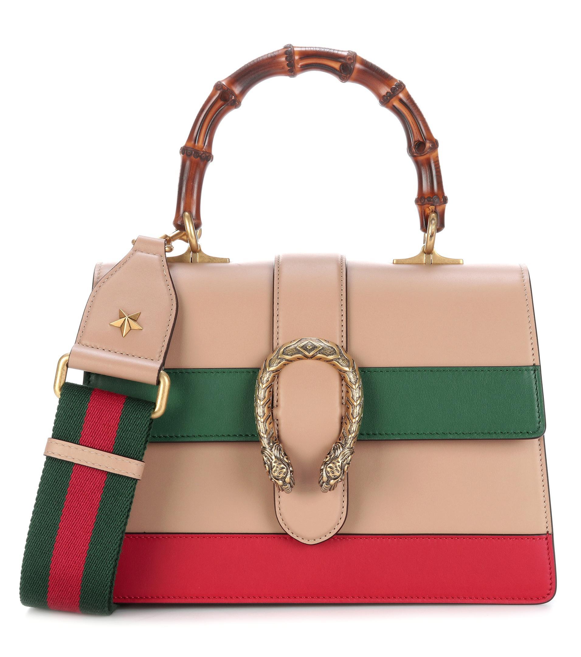 8e241c375ff Gucci Dionysus Bamboo Medium Leather Shoulder Bag in Natural - Lyst
