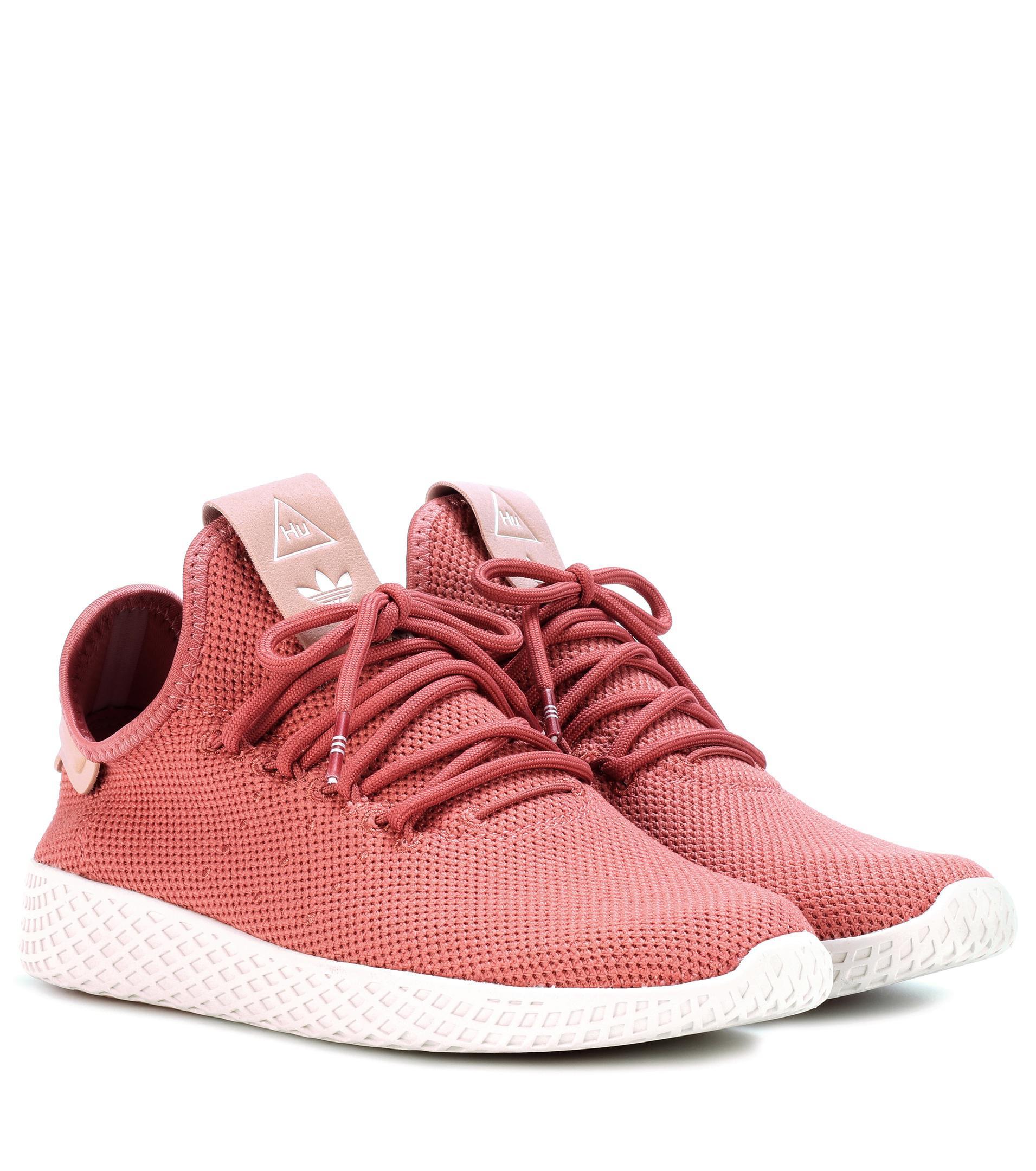 lyst adidas originali pharrell williams tennis hu scarpe rosa