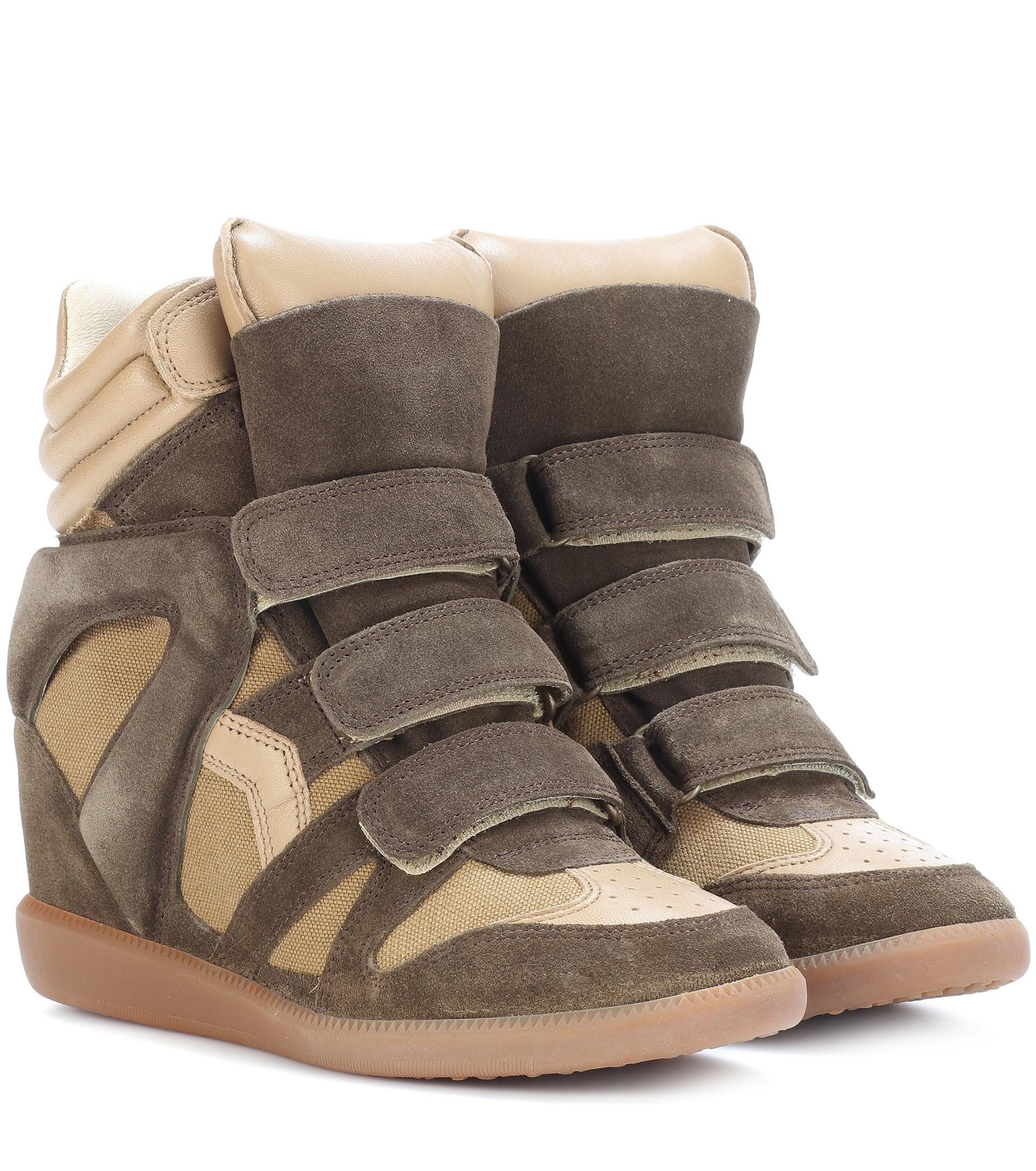 Bekett leather and suede sneakers Isabel Marant yGUIgJhnZ