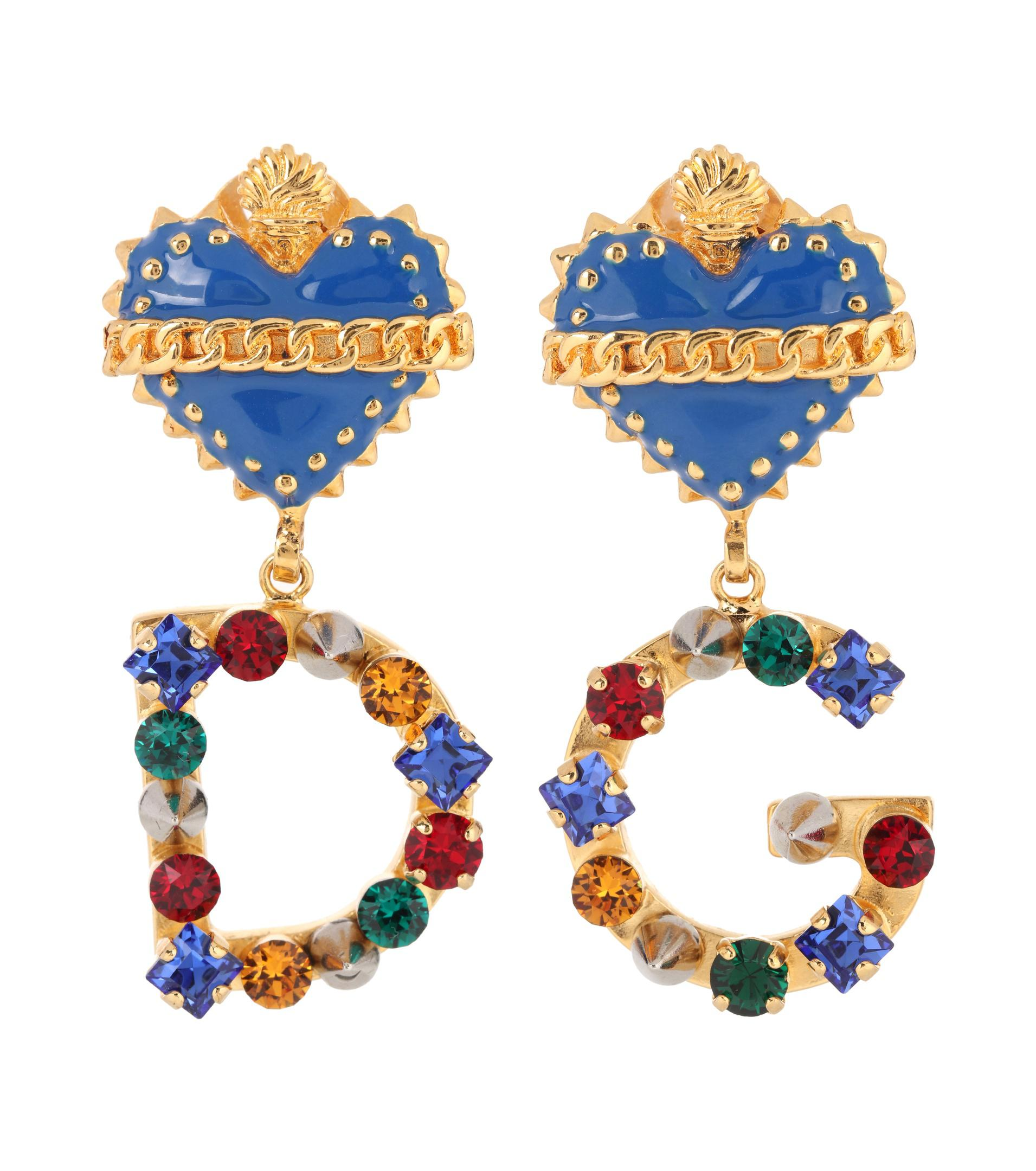 crystal embellished drop earrings - Multicolour Dolce & Gabbana 0duOLlQ8X