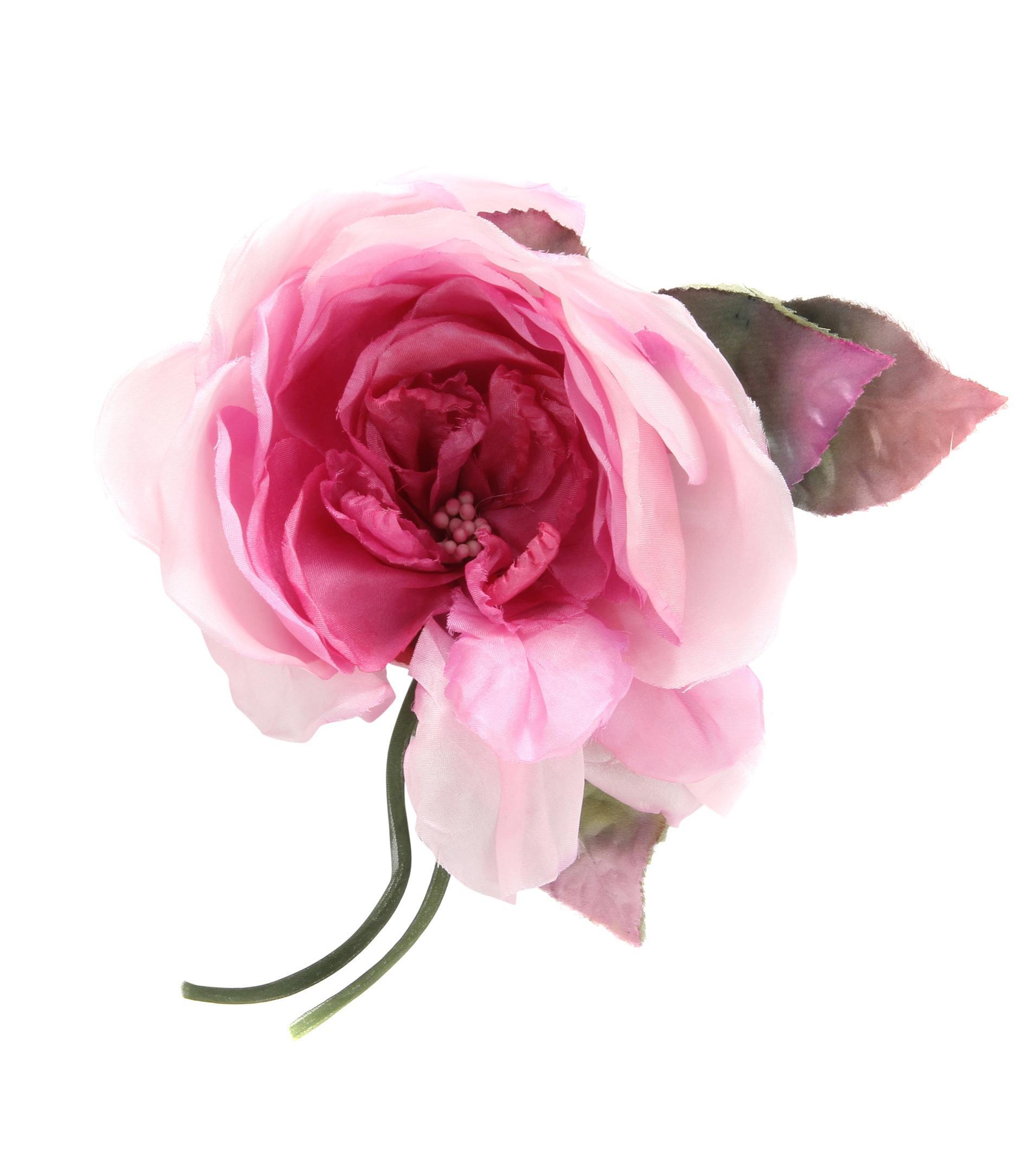 Lyst gucci silk flower brooch in pink gallery mightylinksfo