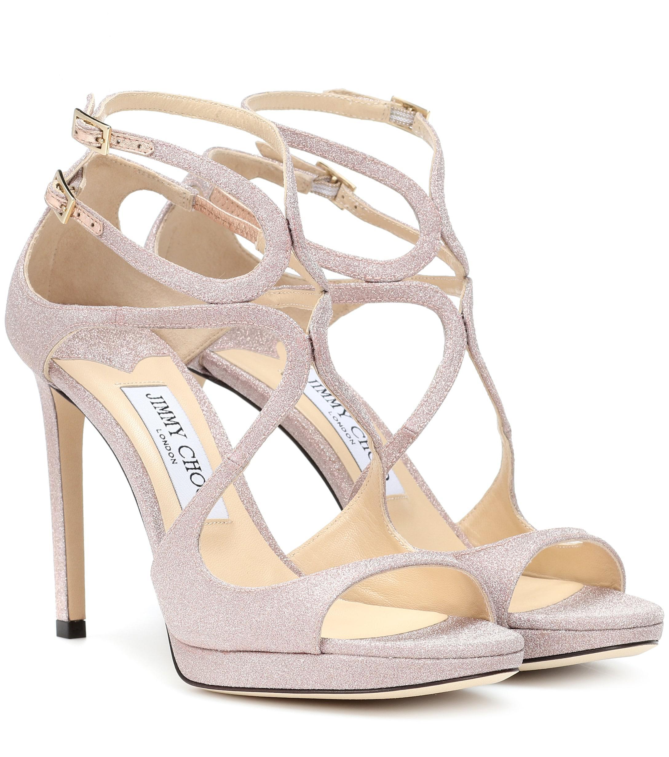 7cd6008886bb Jimmy Choo. Women s Lance 100 Glitter Sandals