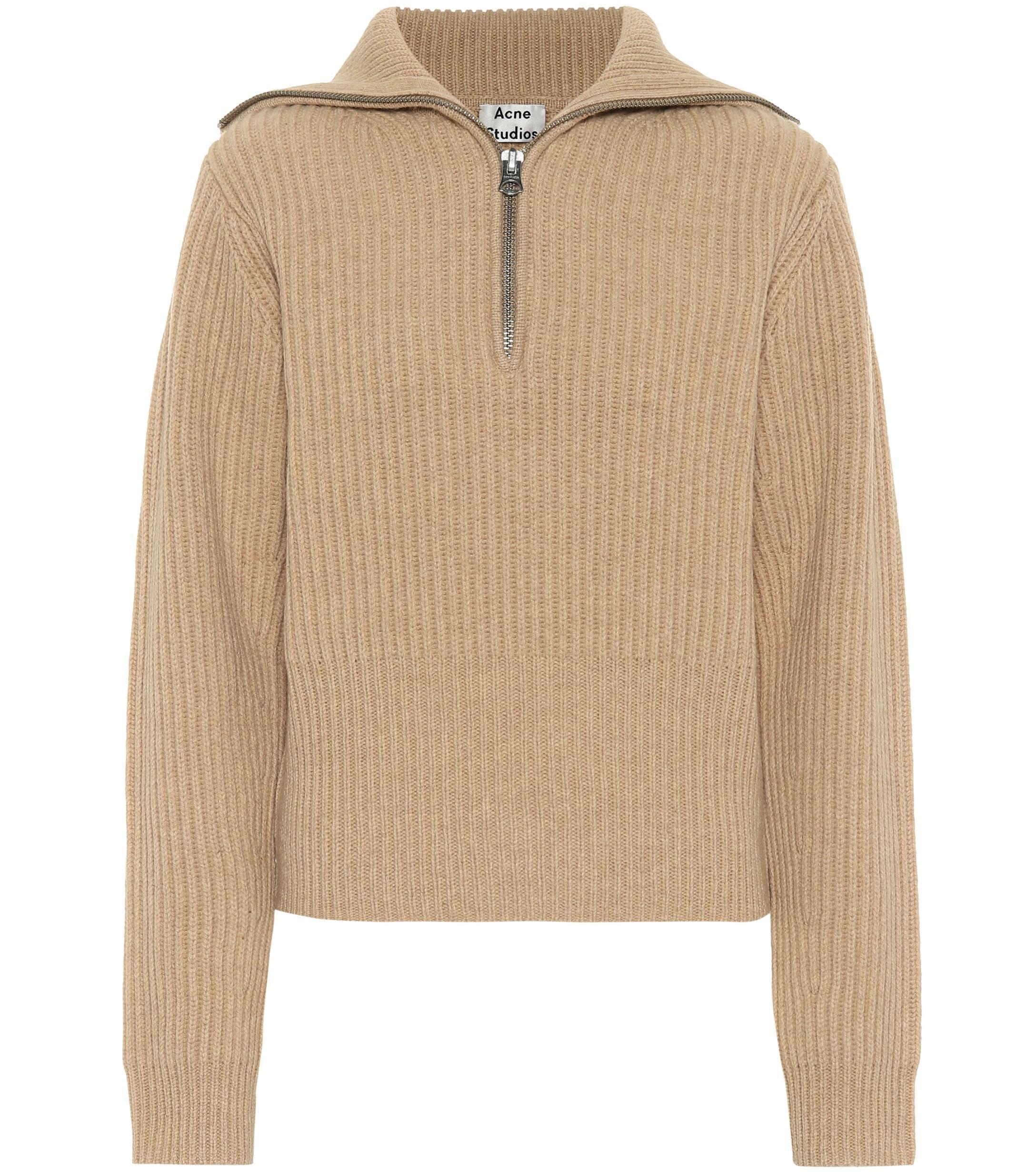 ee8b90baa1ea0 Lyst - Acne Studios Ribbed Wool Sweater in Natural - Save 1%
