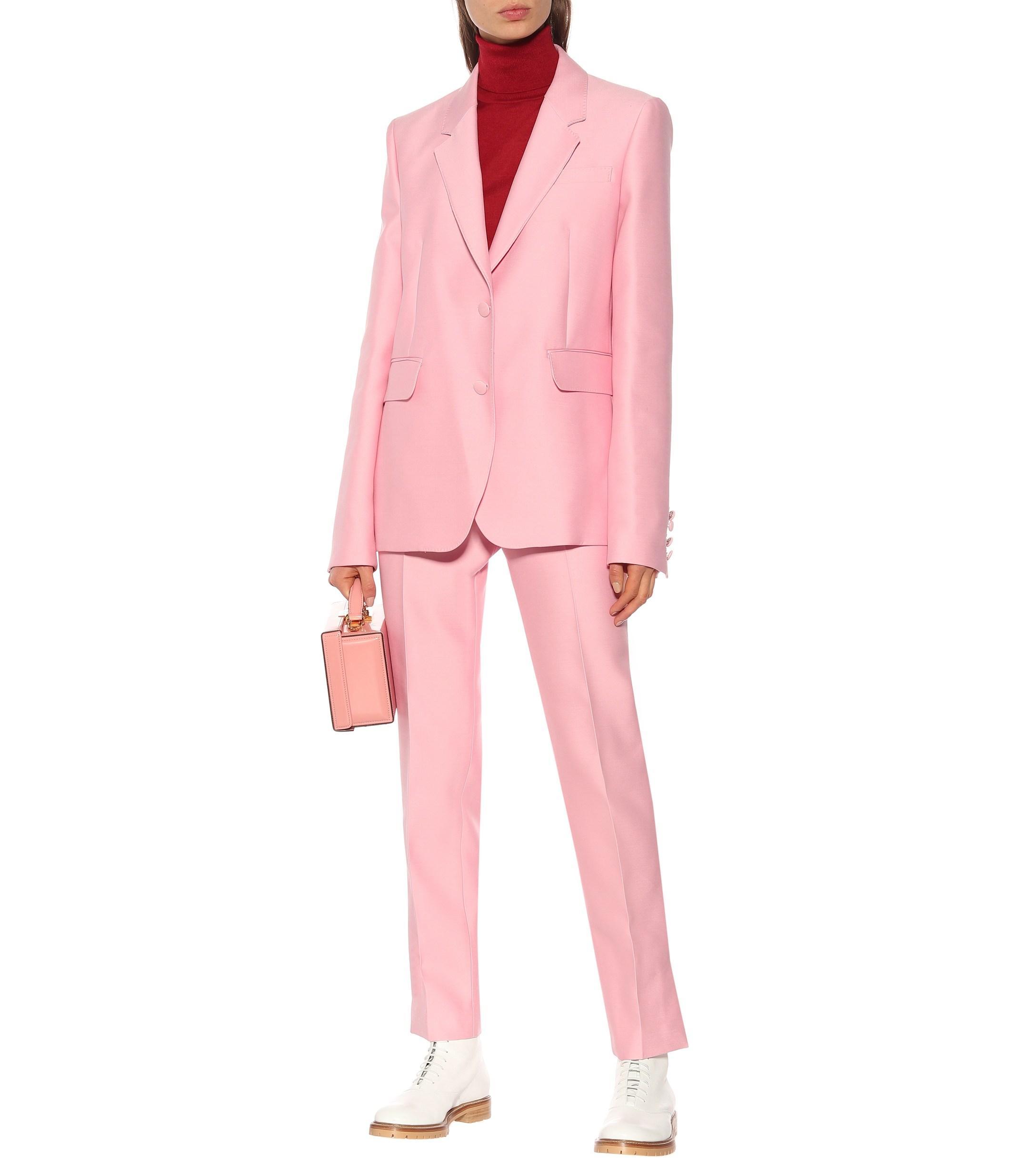 e11207f3fdc09 Gabriela Hearst - Pink Sophie Wool And Silk Blazer - Lyst. View fullscreen