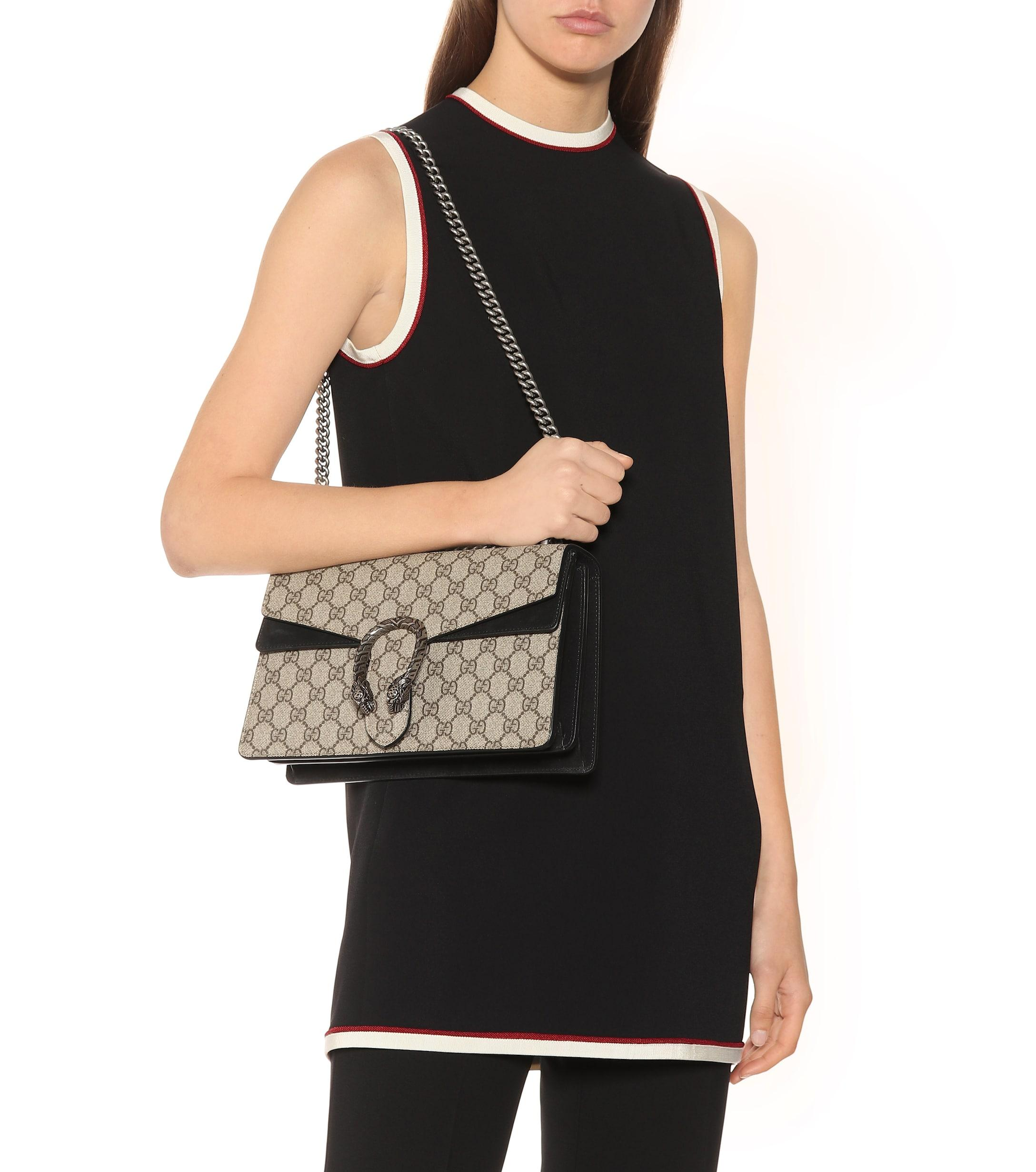 1ebe13bc5ebe Gucci - Natural Dionysus GG Supreme Small Shoulder Bag - Lyst. View  fullscreen