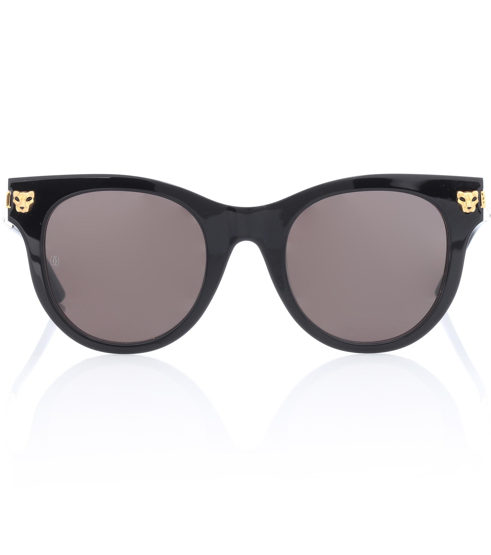 Cartier. Gafas de sol Panthère de Cartier de mujer de color negro 45dce0541fc6