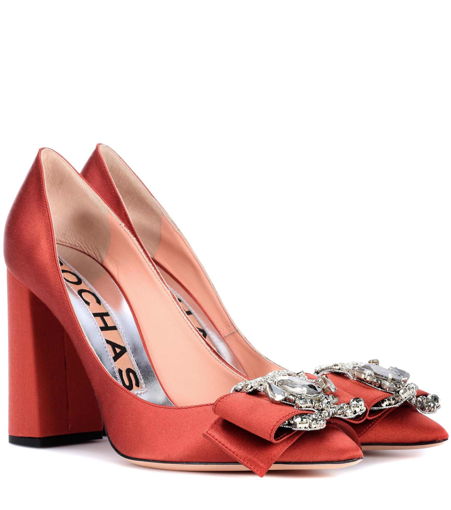 hot sales e9ad9 bd01f rochas-red-Embellished-Satin-Pumps.jpeg