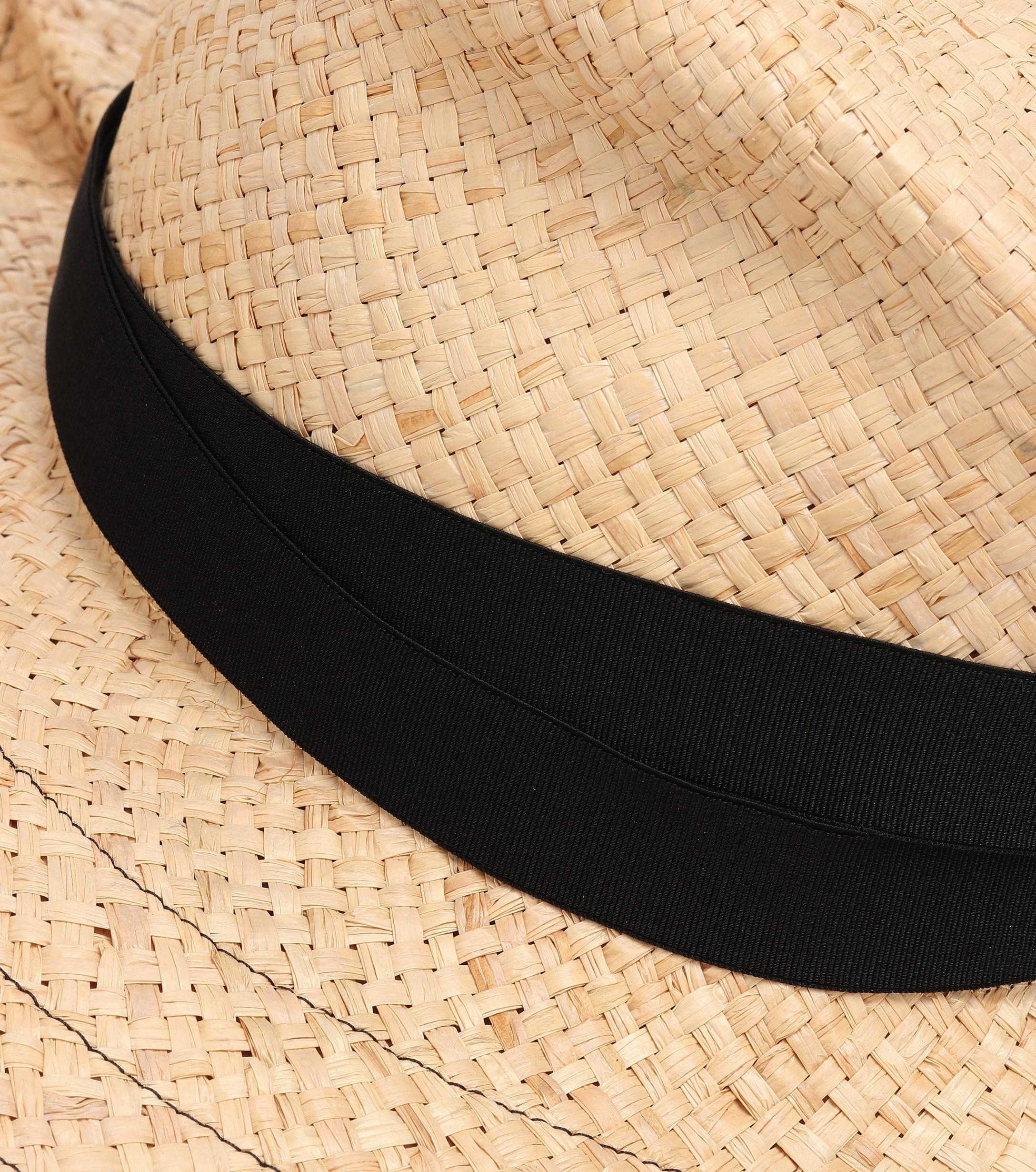 2966b9dbcec Lola Hats - Black Snap First Aid Raffia Hat - Lyst. View fullscreen