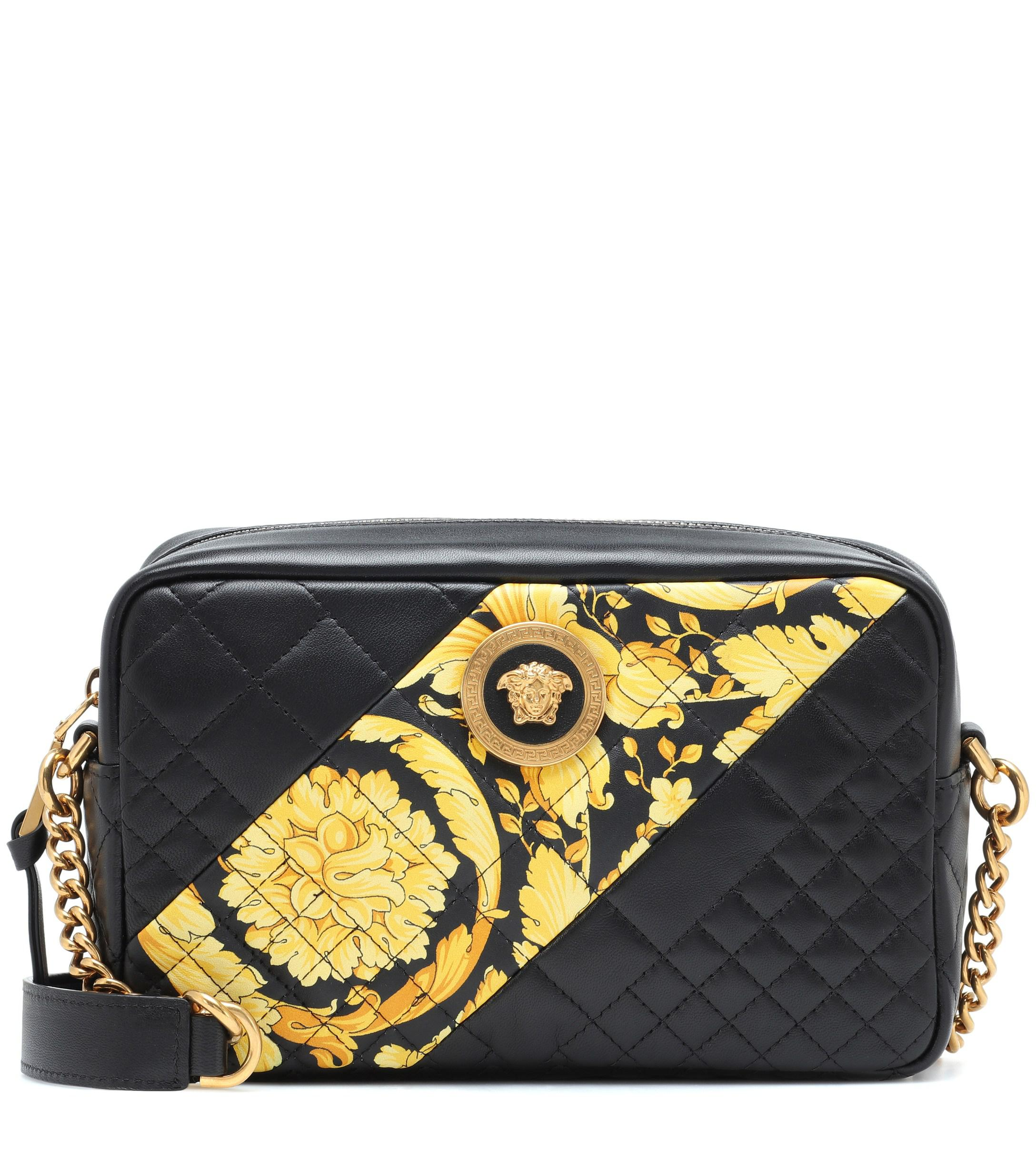 68455b9b75 Versace Icon Camera Leather Shoulder Bag in Black - Lyst