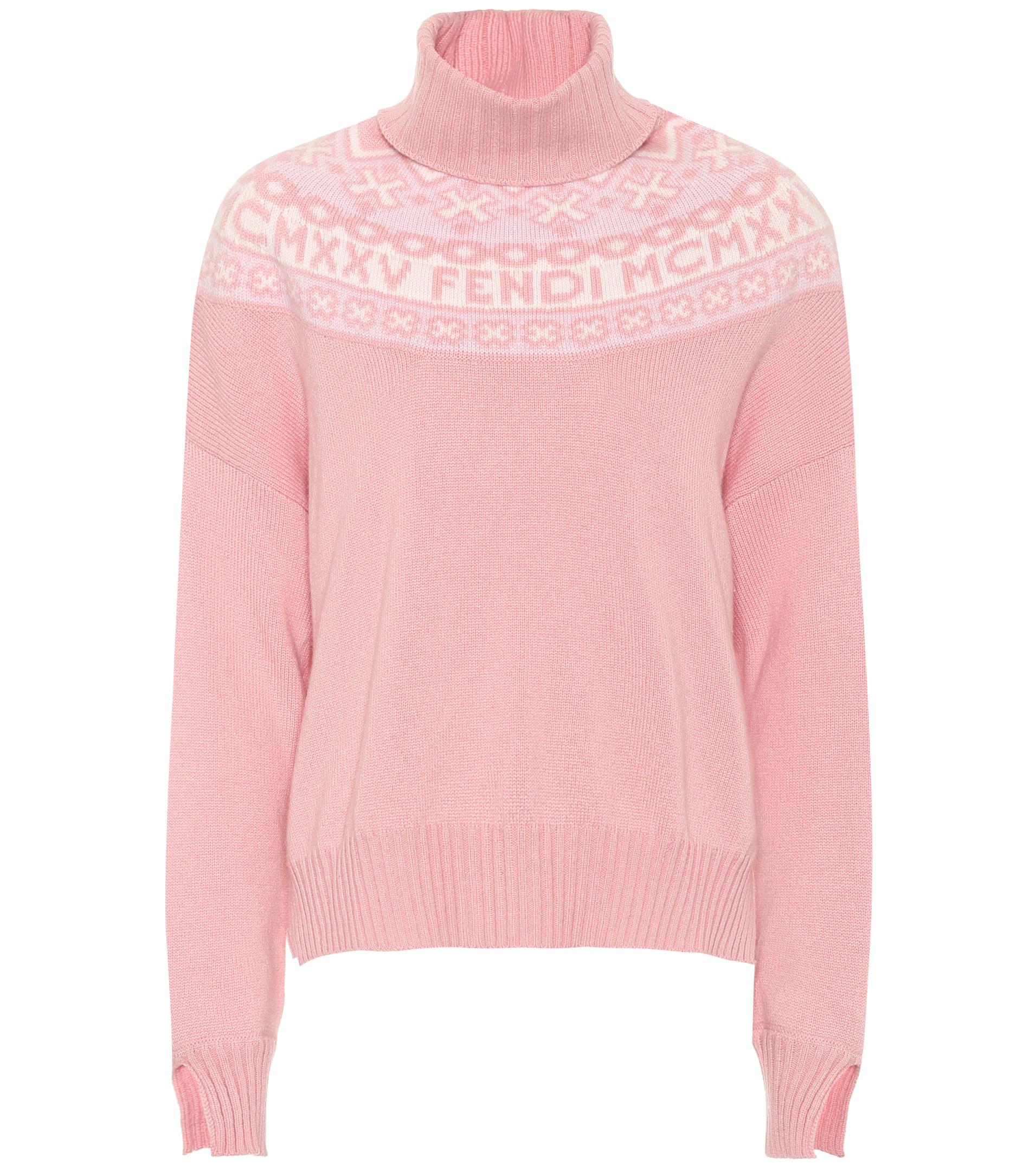 Fendi Exclusive To Mytheresa. Com – Fair Isle Sweater in Pink | Lyst