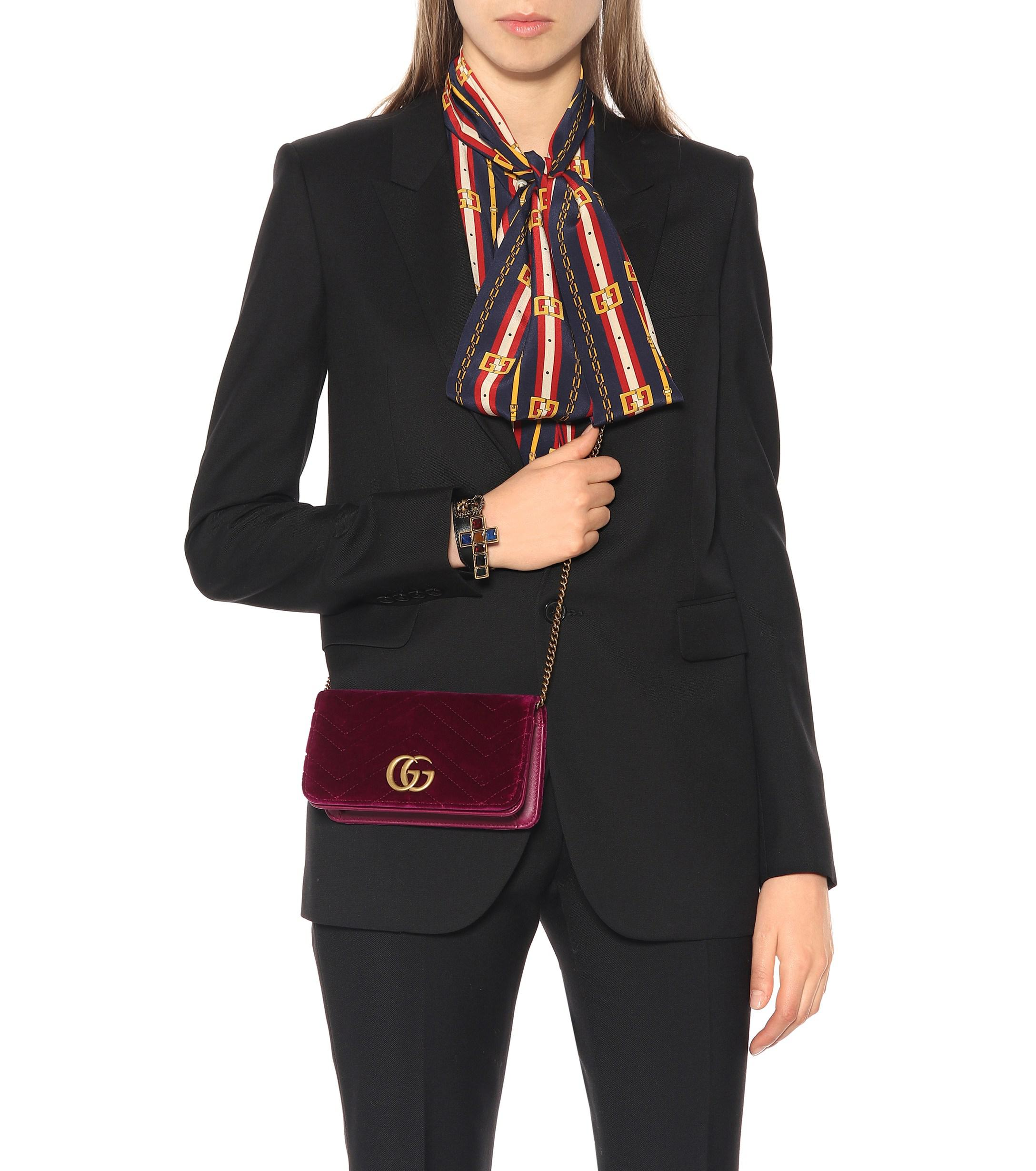 957c58123998c6 Gucci - Multicolor GG Marmont Super Mini Shoulder Bag - Lyst. View  fullscreen