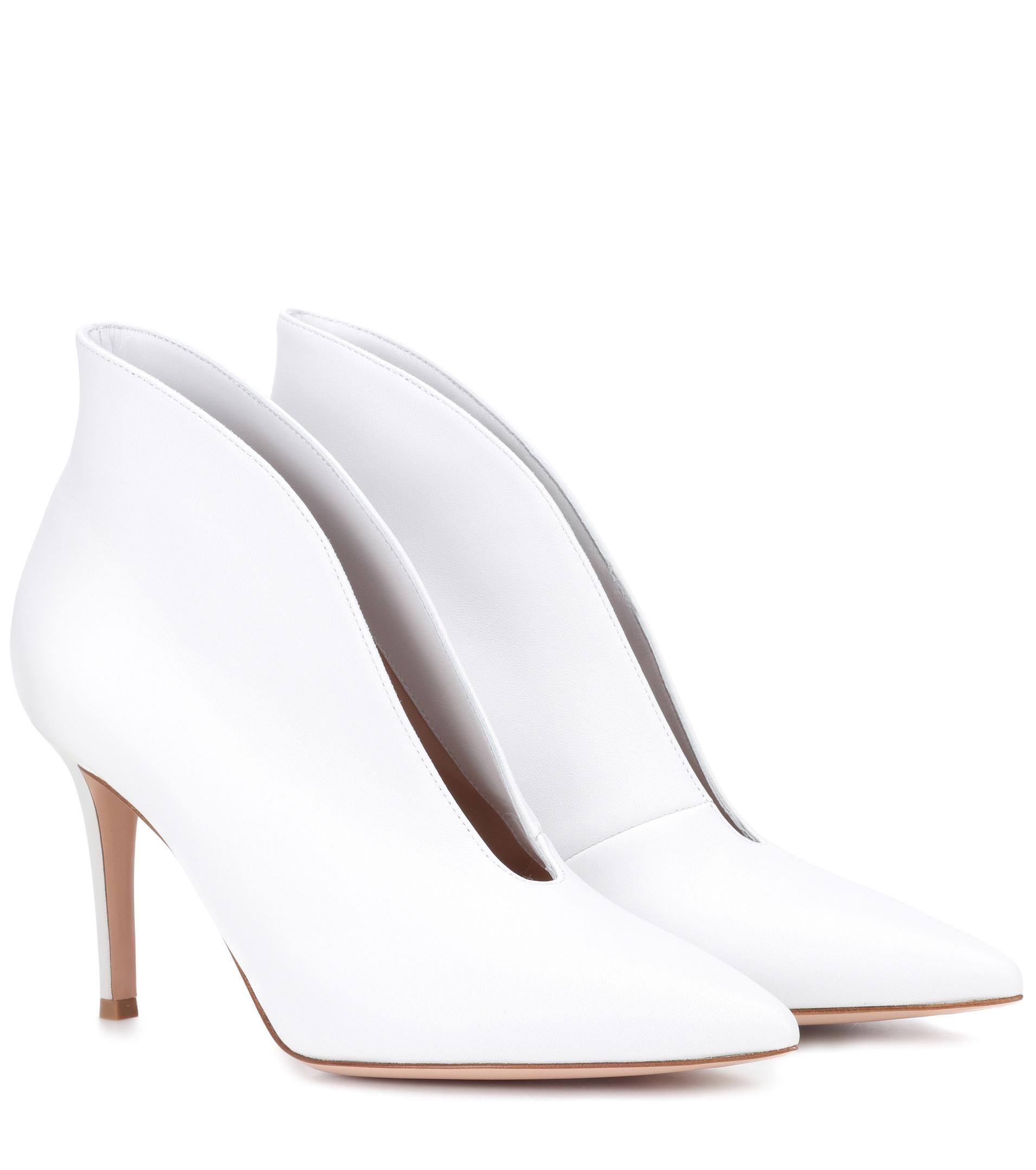 Gianvito Rossi Vania 85 high-cut leather pumps