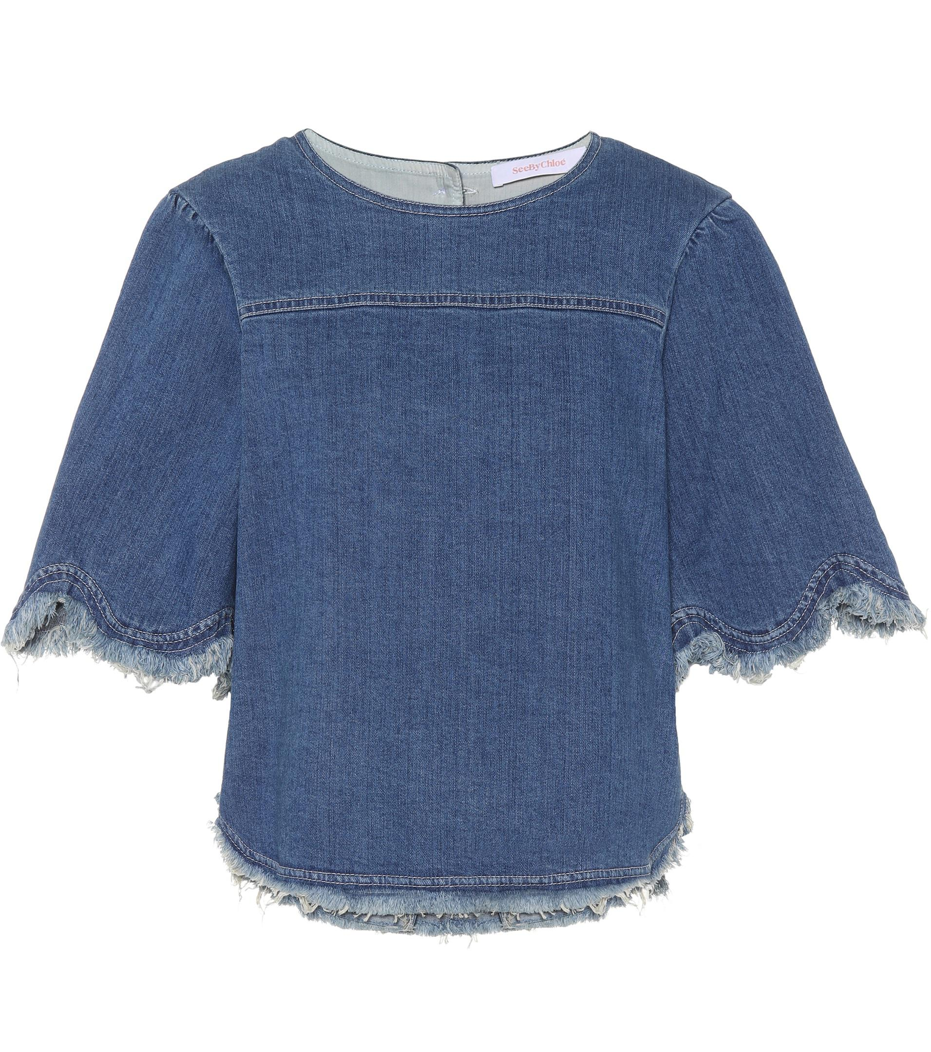 Denim top See By Chloé Fashion Style Sale Online Comfortable Pay With Paypal Cheap Online Outlet Geniue Stockist How Much Cheap Online JhKZi