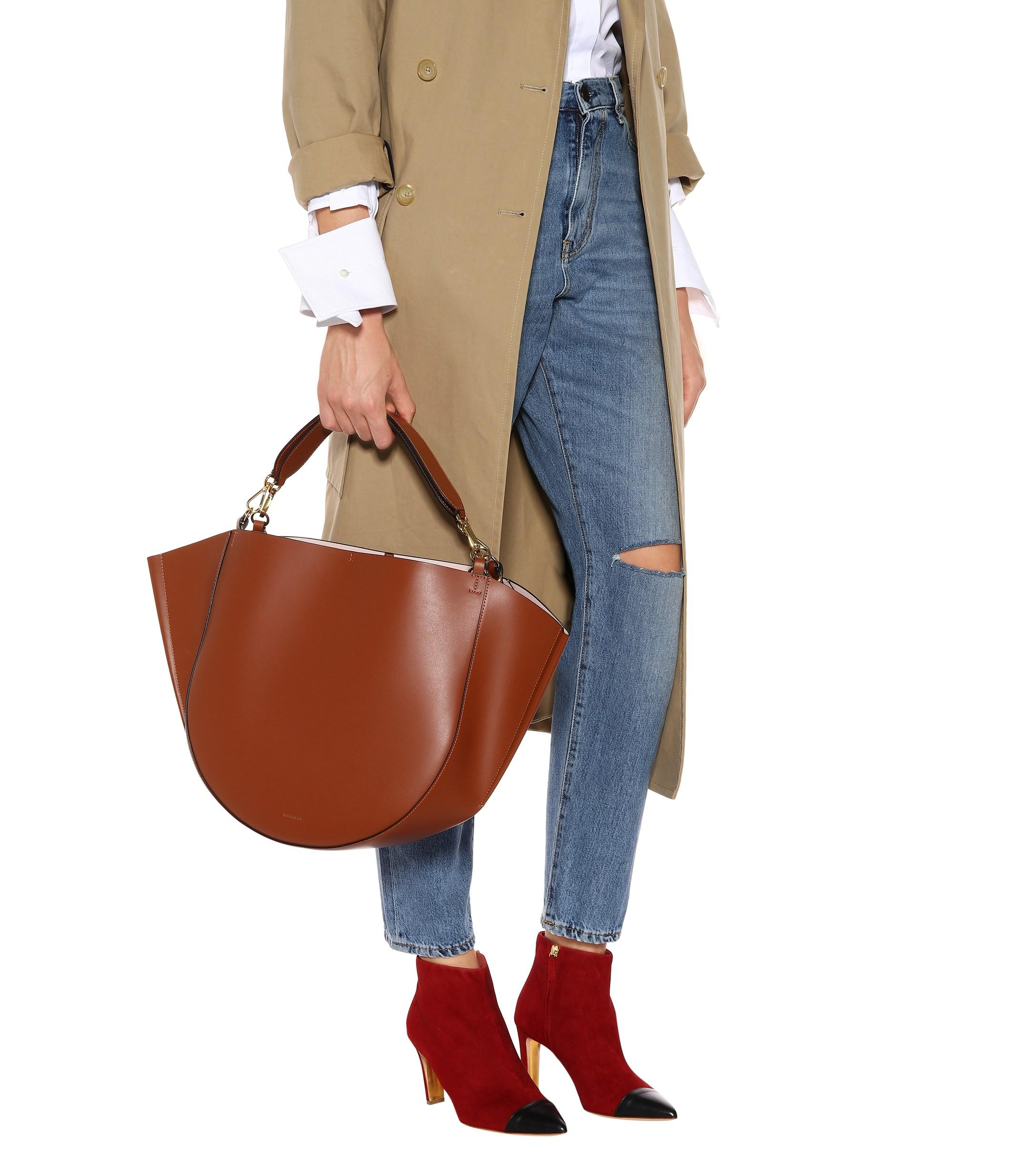 d08bac85643b Wandler - Brown Mia Leather Tote - Lyst. View fullscreen